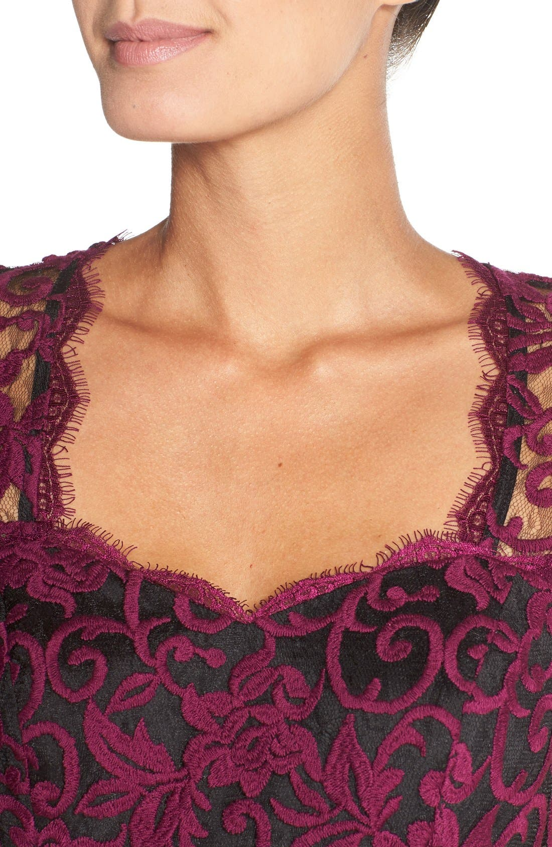 Alternate Image 5  - Adrianna PapellIllusion Lace Fit & Flare Dress
