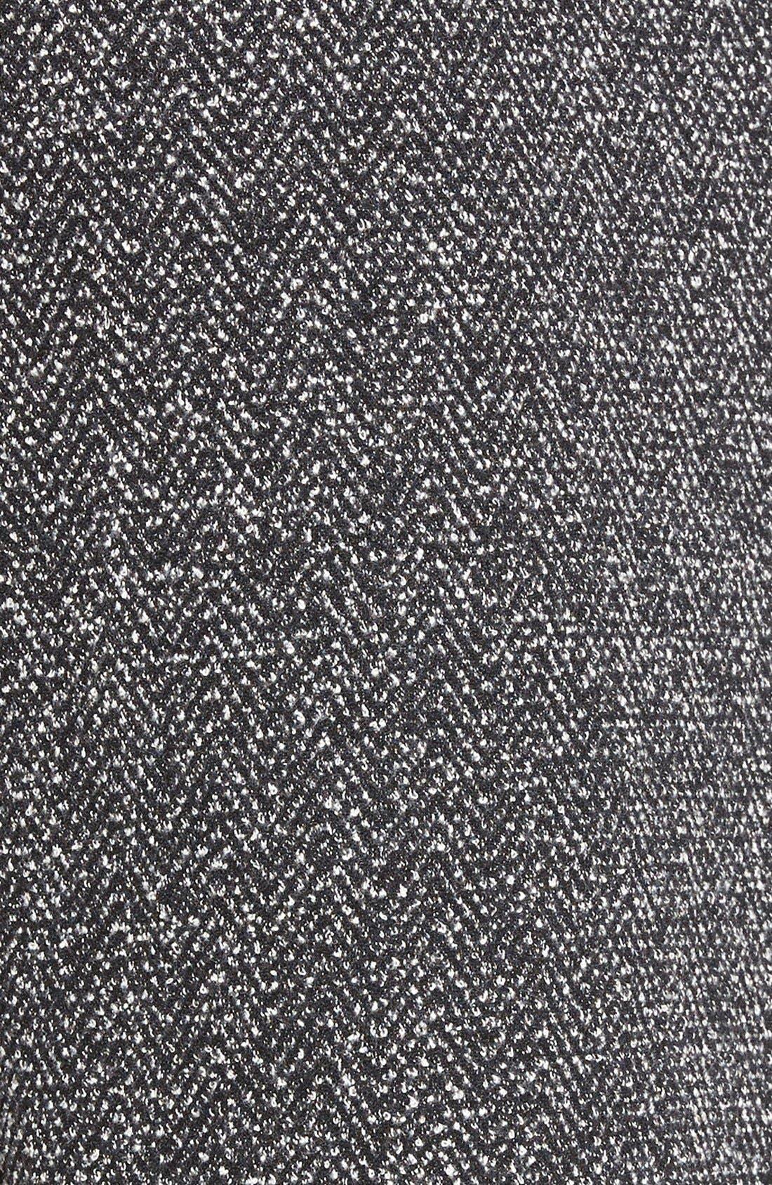 Alternate Image 5  - Halogen® Zip Front Stretch Knit Pencil Skirt (Regular & Petite)