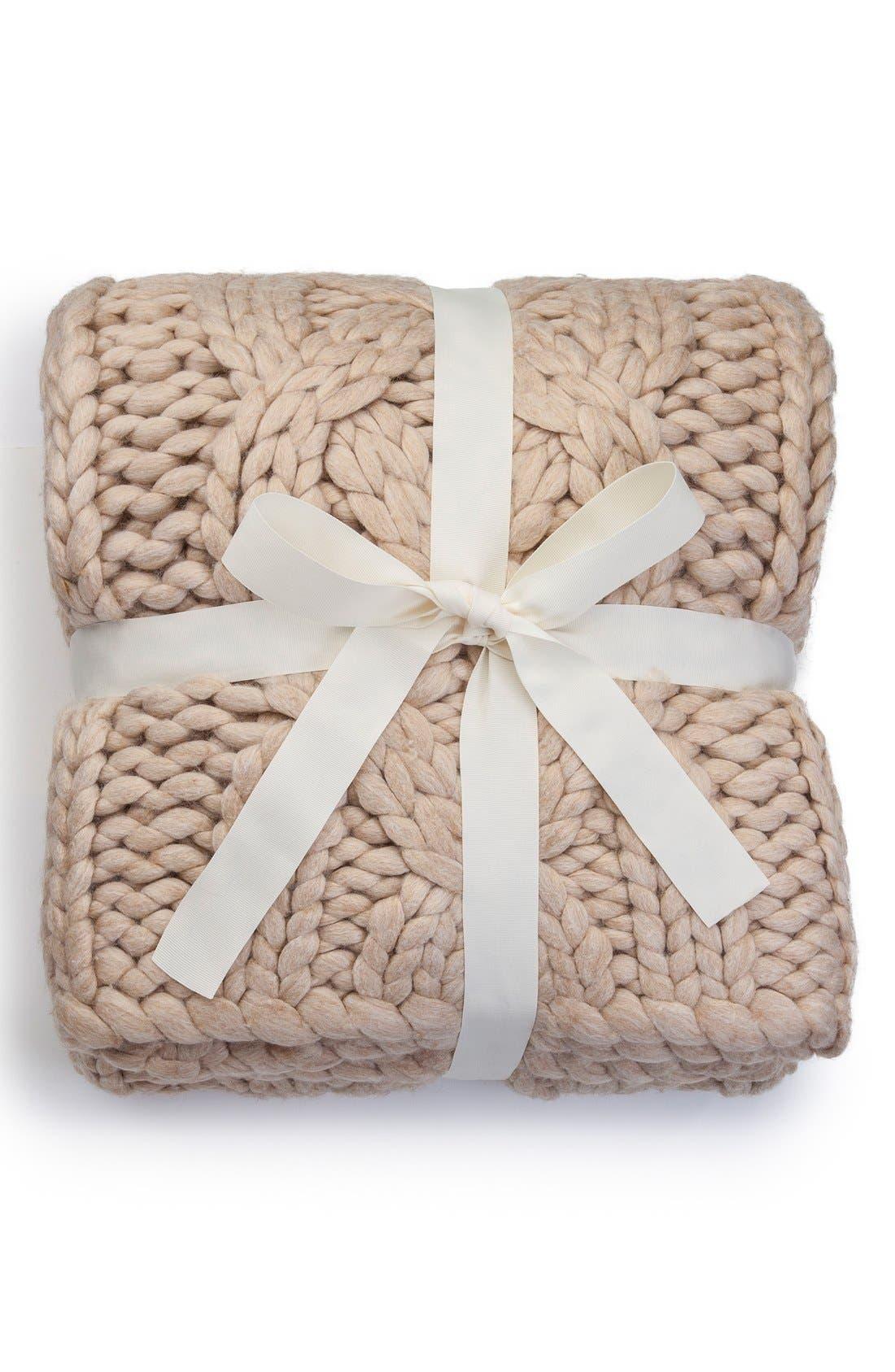 Alternate Image 2  - UGG® Oversize Knit Throw