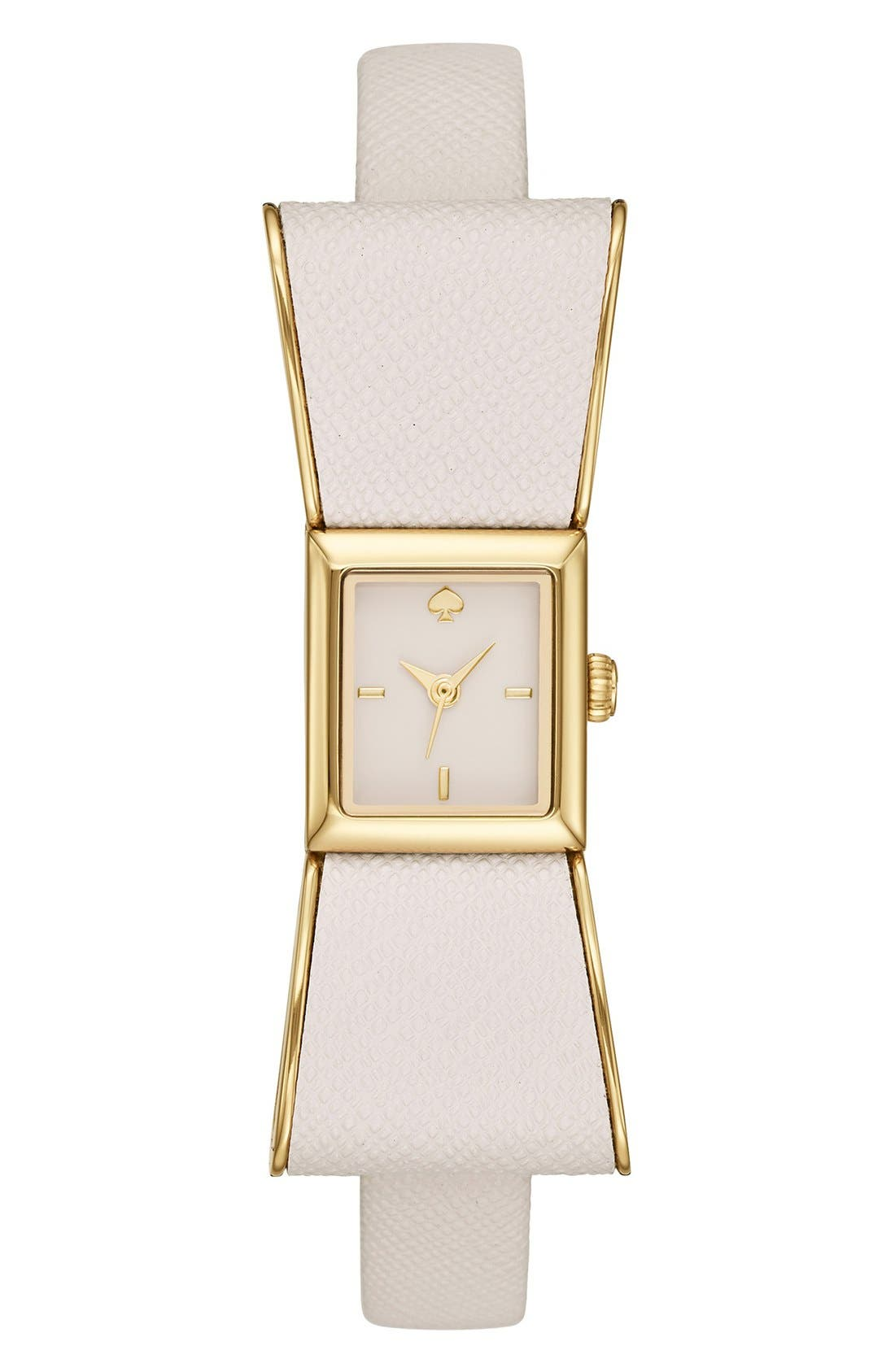 Alternate Image 1 Selected - kate spade new york 'kenmare' bow case watch, 20mm