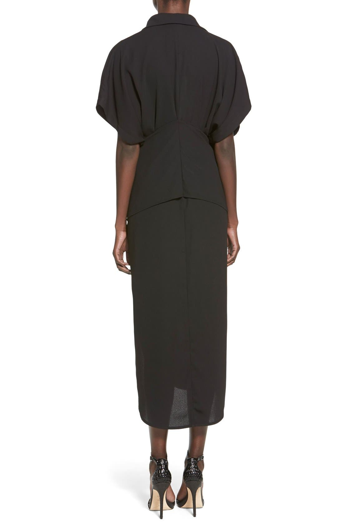 Alternate Image 2  - C/MEO Collective 'No Limit' Tie Front Midi Shirtdress