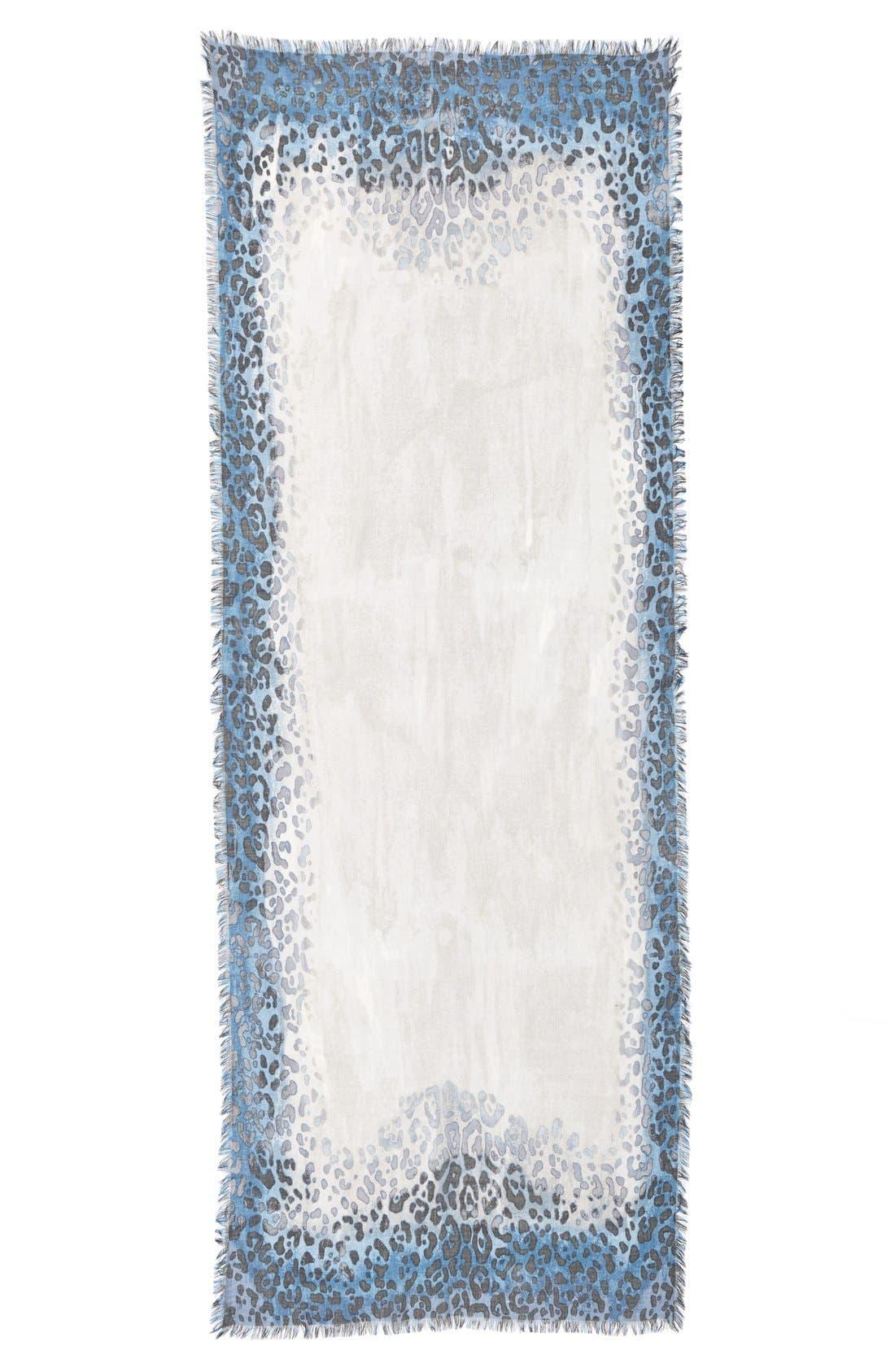 Alternate Image 2  - Nordstrom Leopard PrintCashmere & Silk Scarf