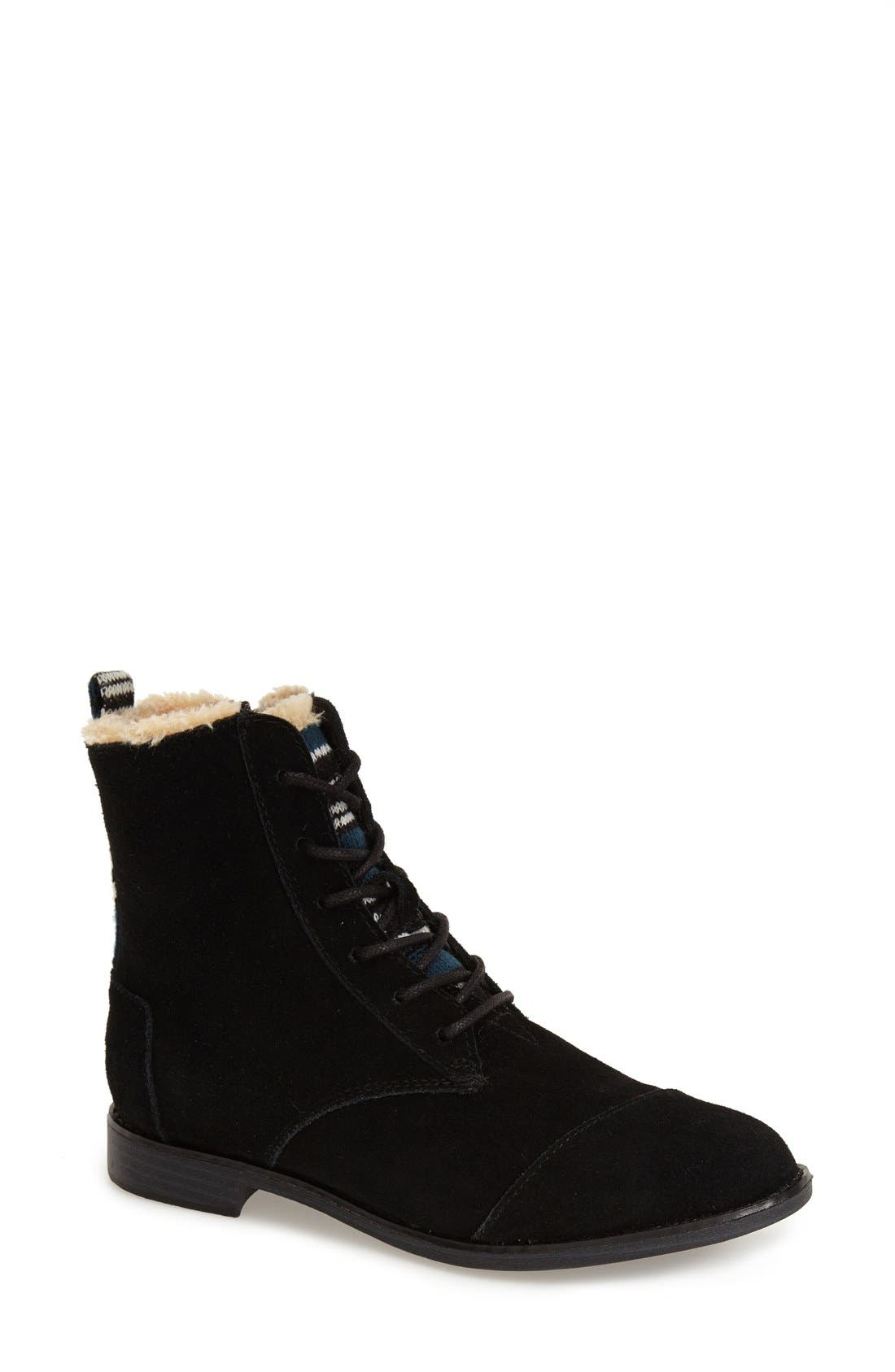 Alternate Image 1 Selected - TOMS 'Alpa'Water Resistant Suede Boot (Women)