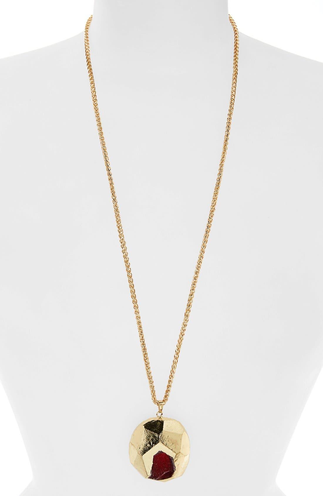 Alternate Image 1 Selected - Panacea Semiprecious Stone Pendant Necklace