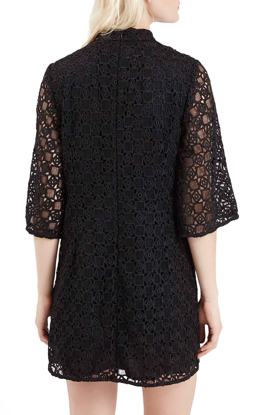 Alternate Image 3  - Topshop Bell Sleeve Lace Dress