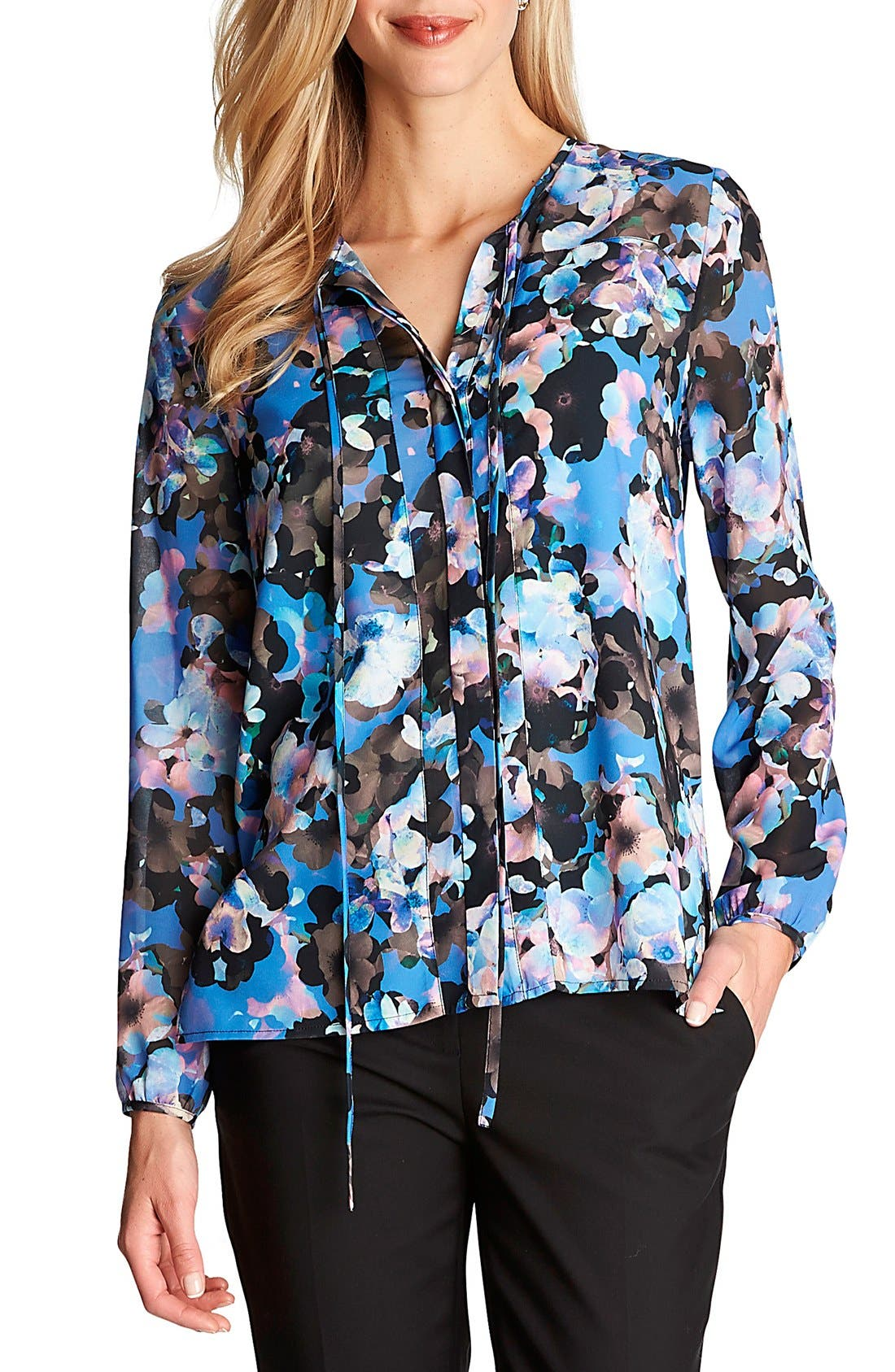 Alternate Image 1 Selected - CeCe by Cynthia Steffe 'Floral Odyssey' Print Blouse