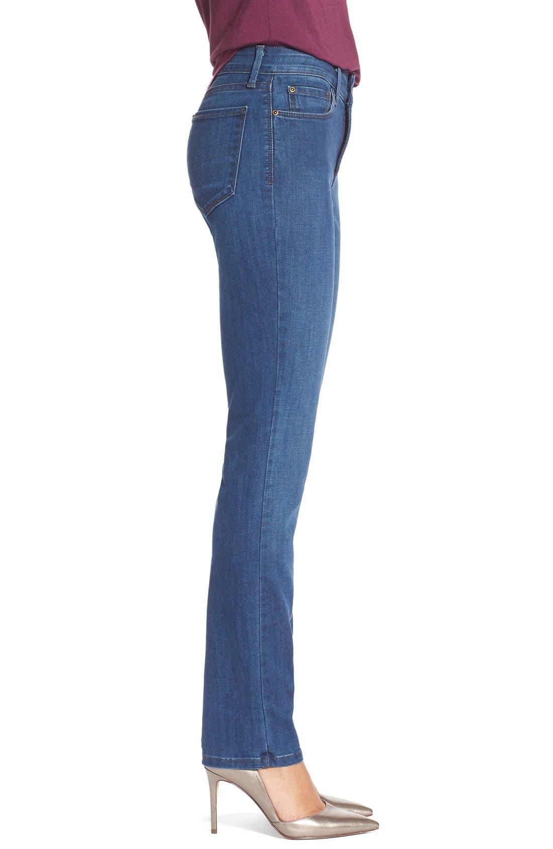 Alternate Image 3  - NYDJ'Sheri' Stretch Skinny Jeans (Valencia)(Petite)