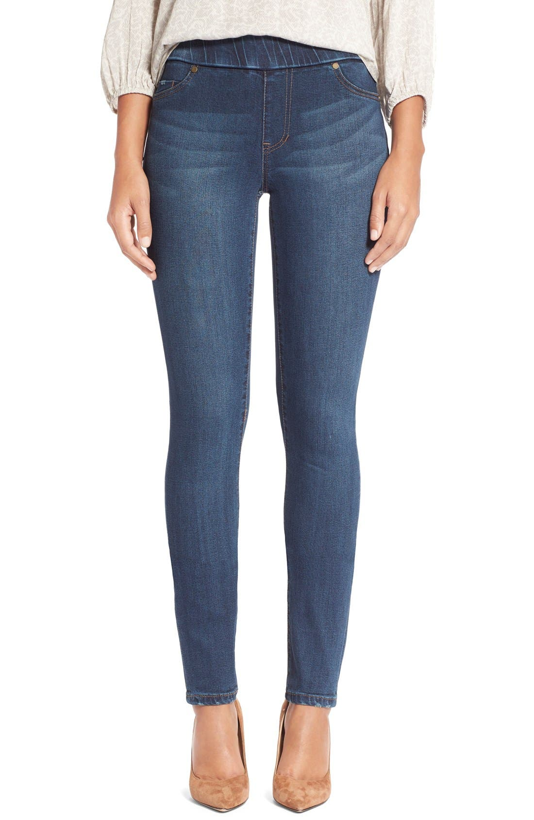 LIVERPOOL JEANS COMPANY 'Sienna' Pull-On Knit Denim Leggings
