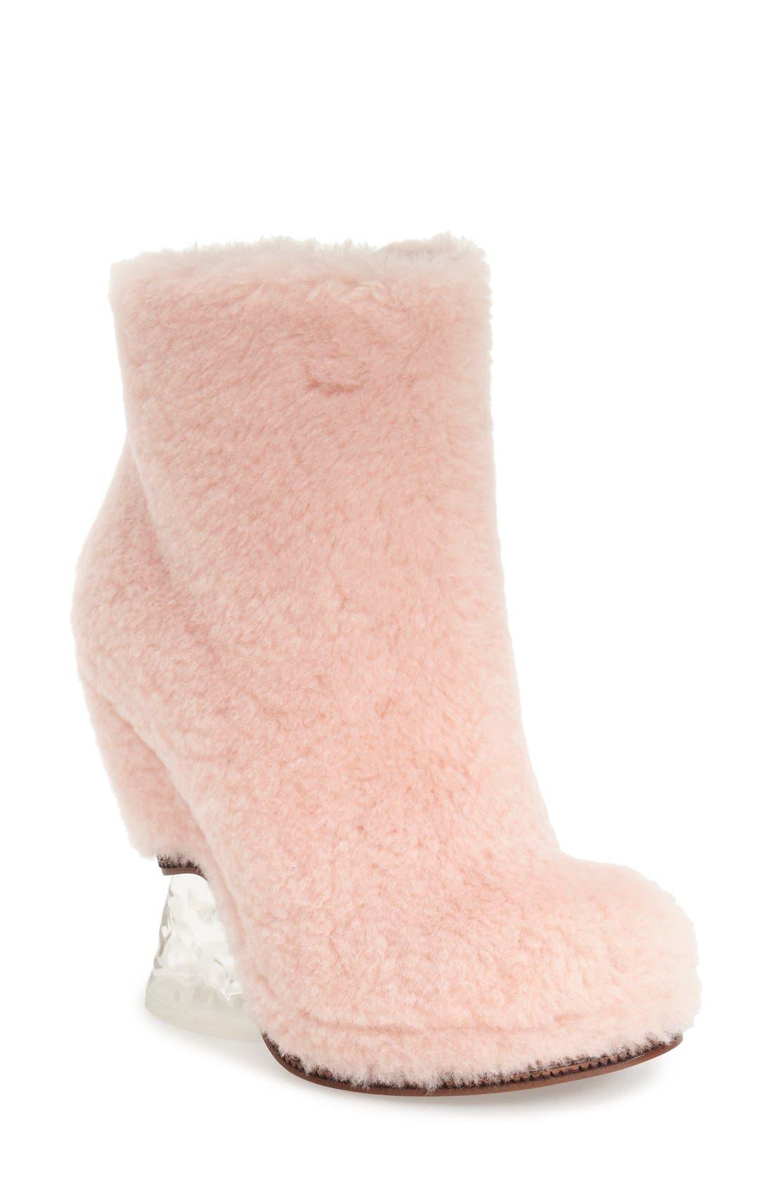Main Image - FendiGenuineShearling Ankle Bootie (Women)