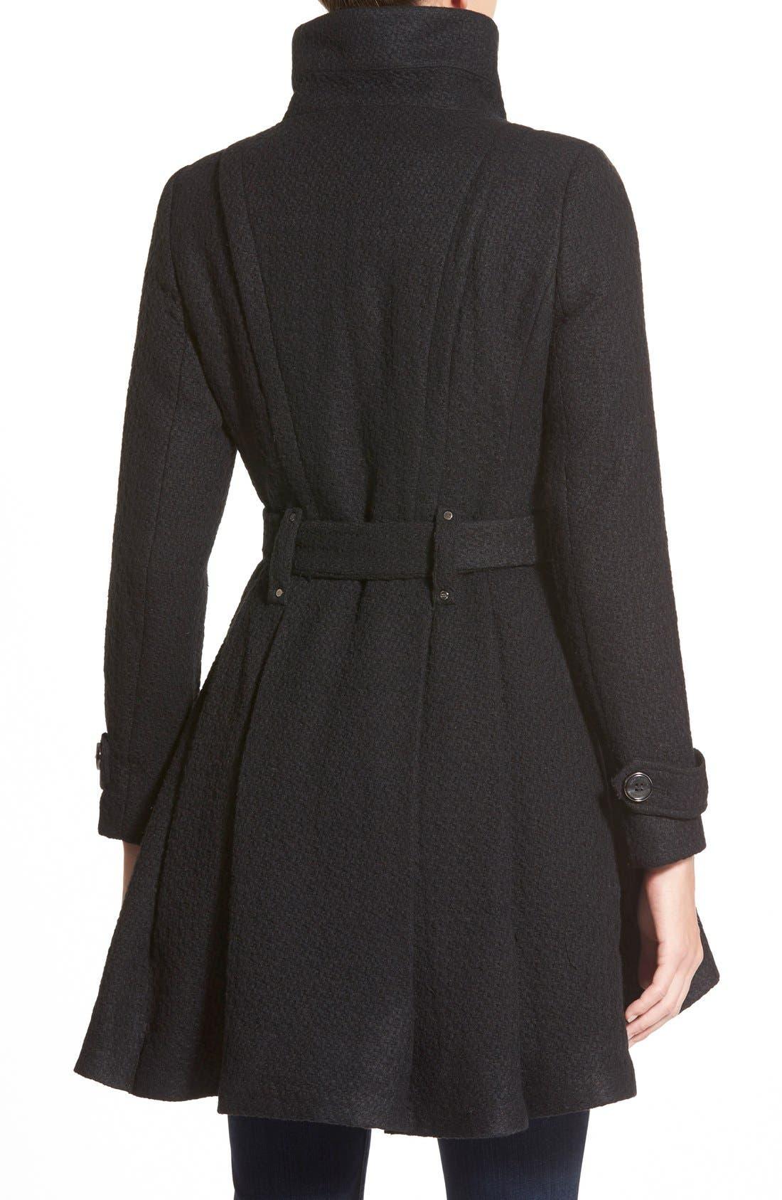 Alternate Image 2  - Steven Madden Asymmetrical Zip Skirted Coat