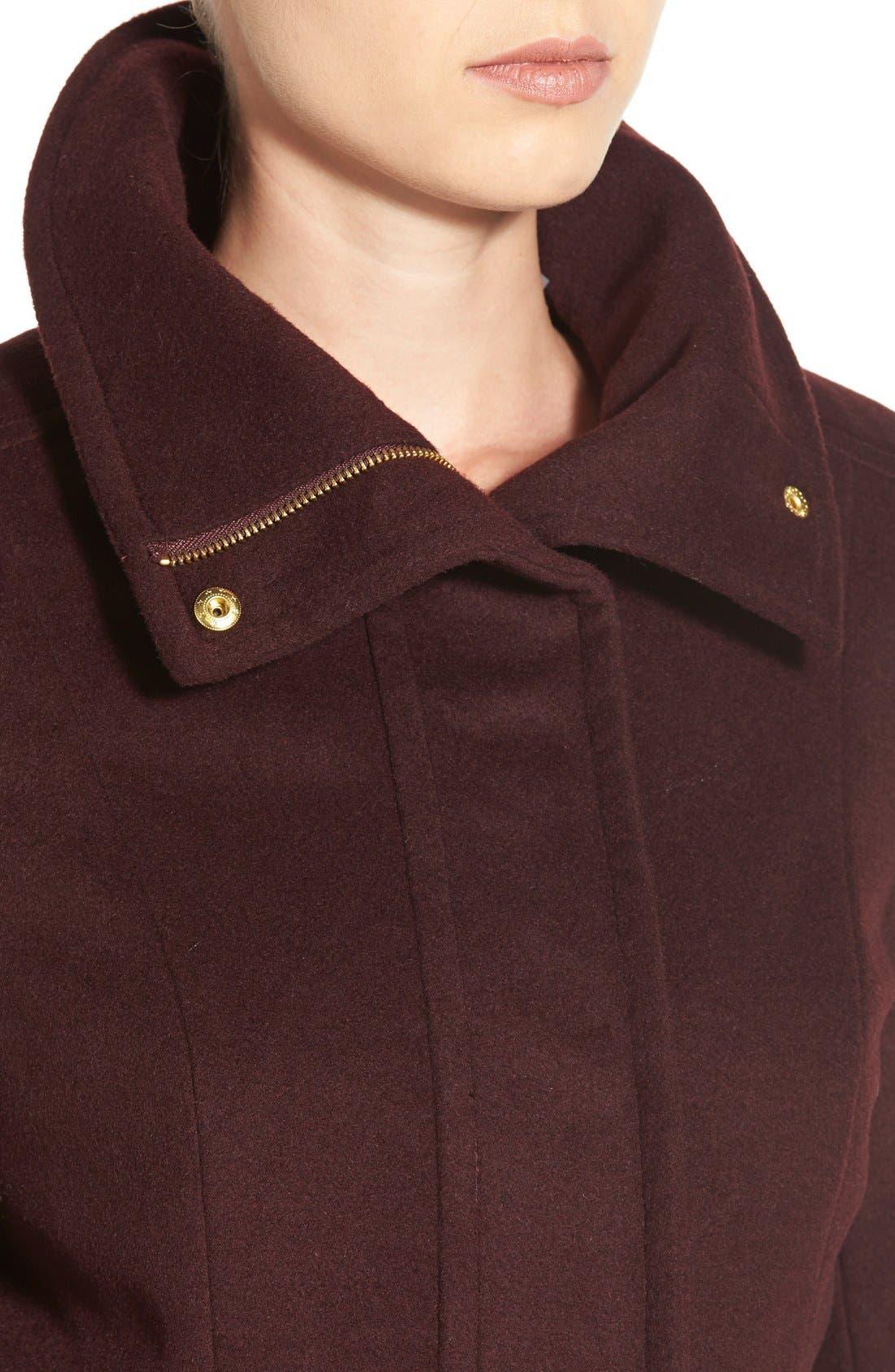 Alternate Image 4  - Cole HaanSignature Stand Collar Wool Blend Coat