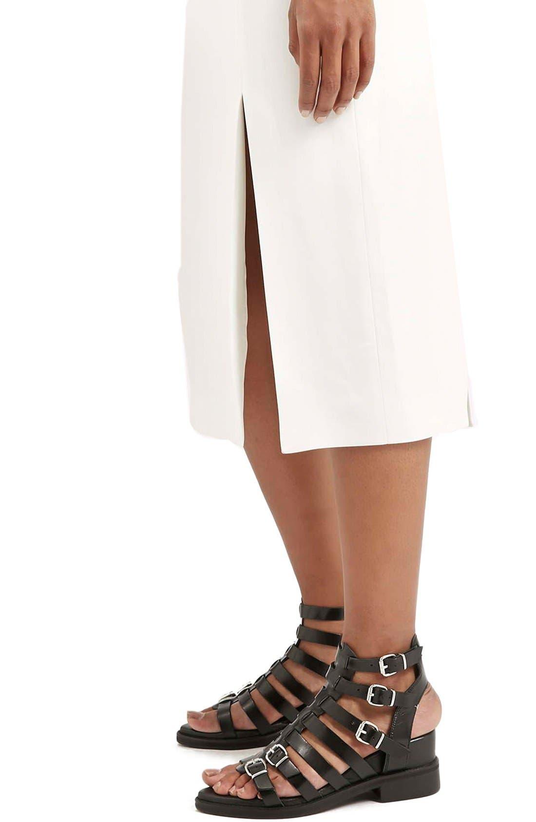 Alternate Image 5  - Topshop Boutique Side Slit Midi Skirt