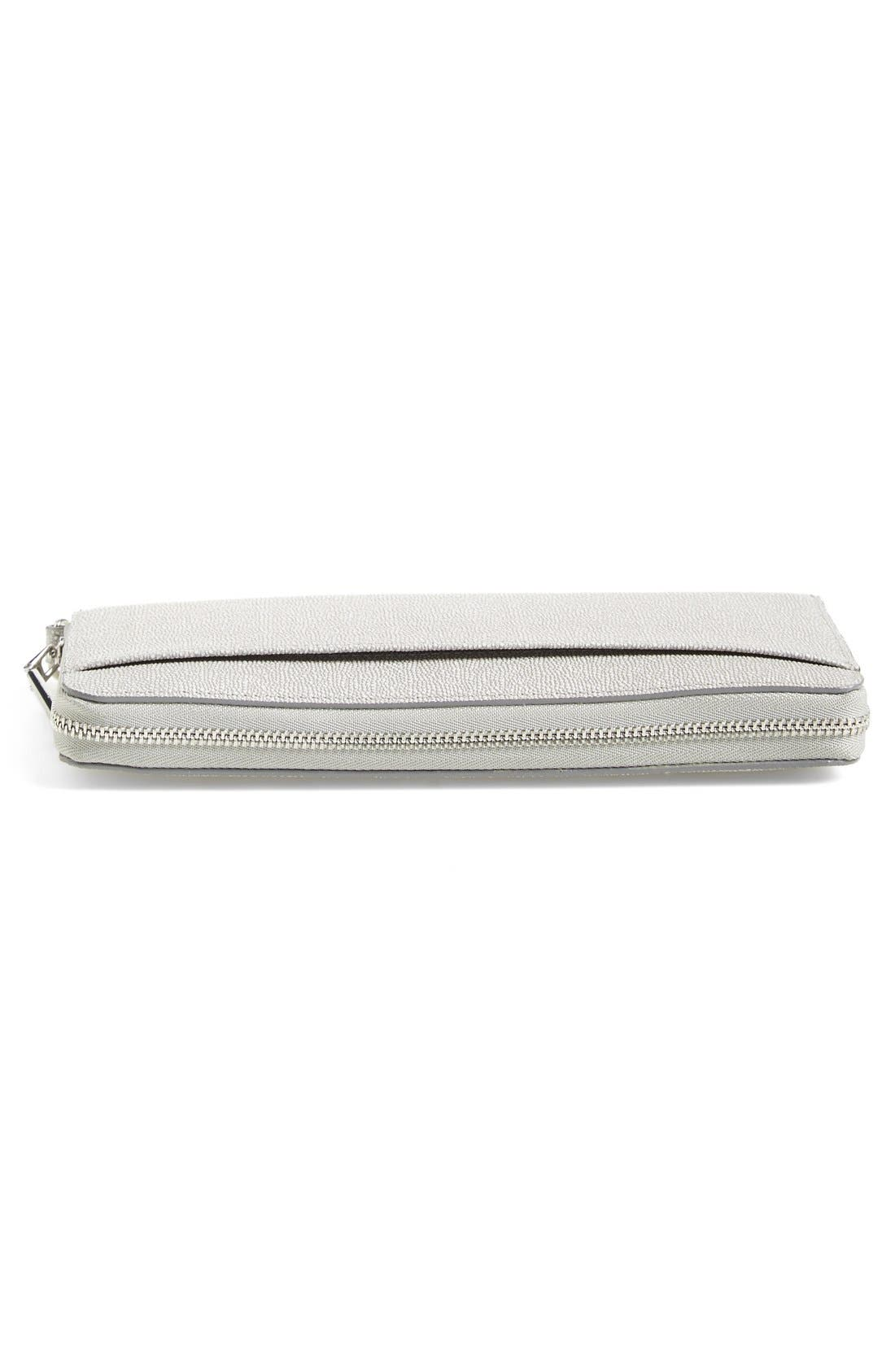 Alternate Image 5  - Halogen® Zip Around Leather Wallet