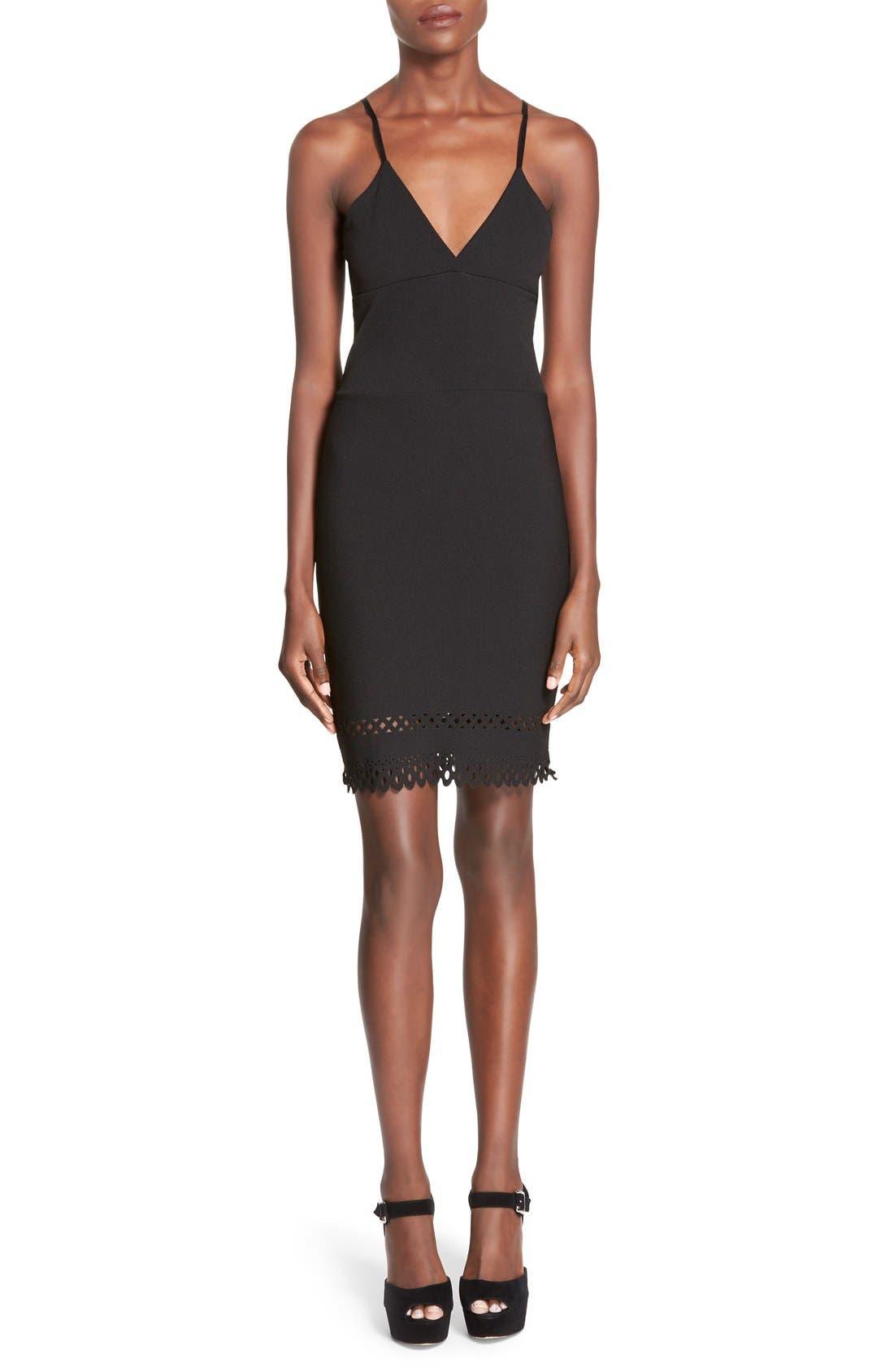 Main Image - MissguidedLaser Cut Hem Body-Con Dress