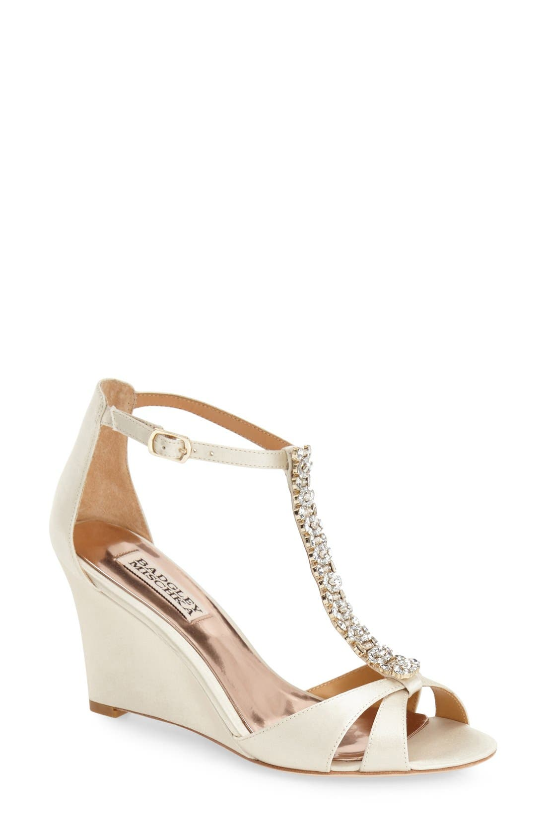 Badgley Mischka 'Romance' Wedge Sandal (Women)