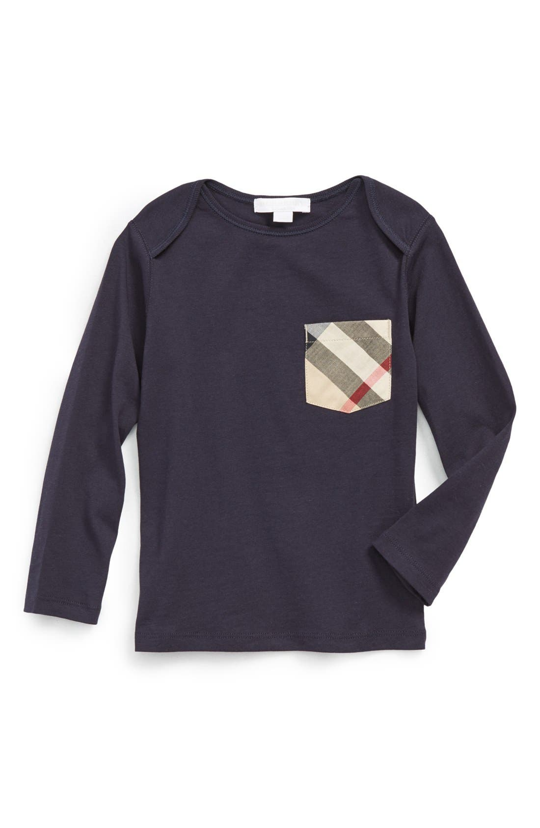Burberry 'Callum' Check Print Chest Pocket T-Shirt (Toddler Boys)