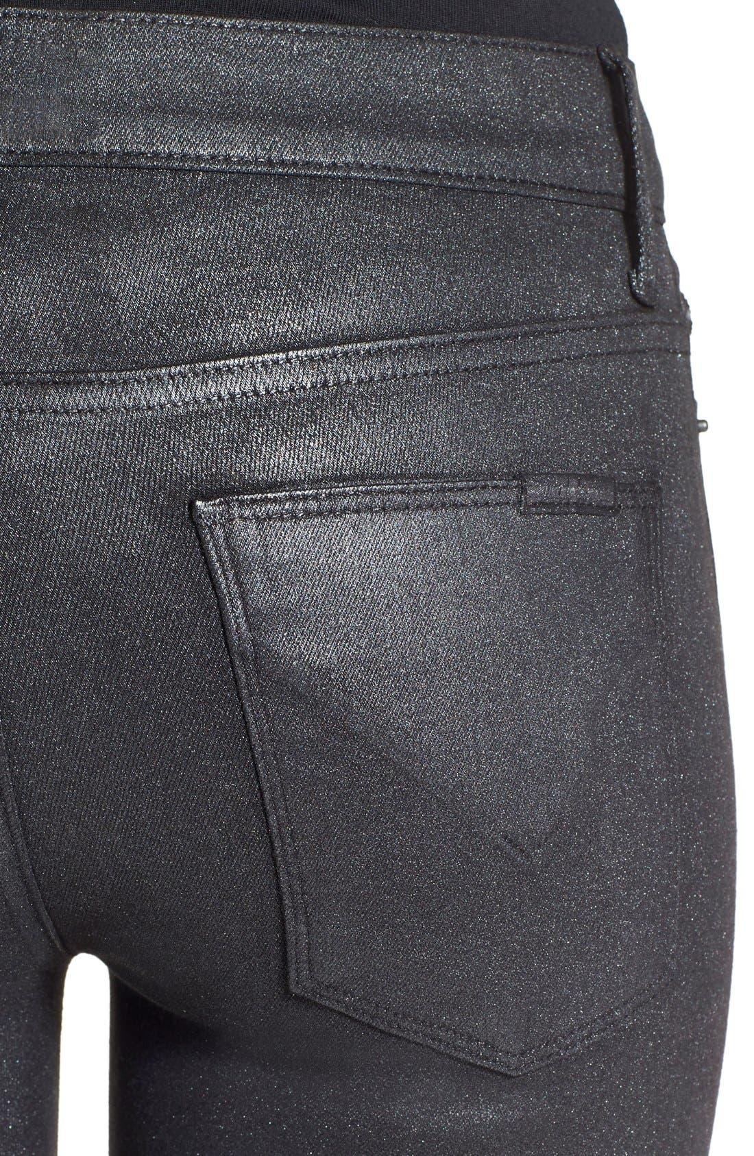 Alternate Image 4  - HudsonJeans Coated Super Skinny Jeans