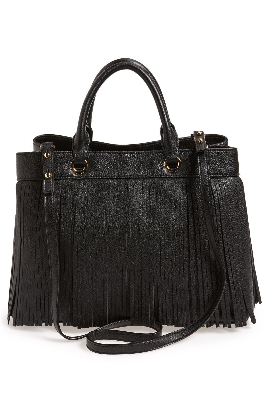 Alternate Image 3  - MillyFringed Leather Tote