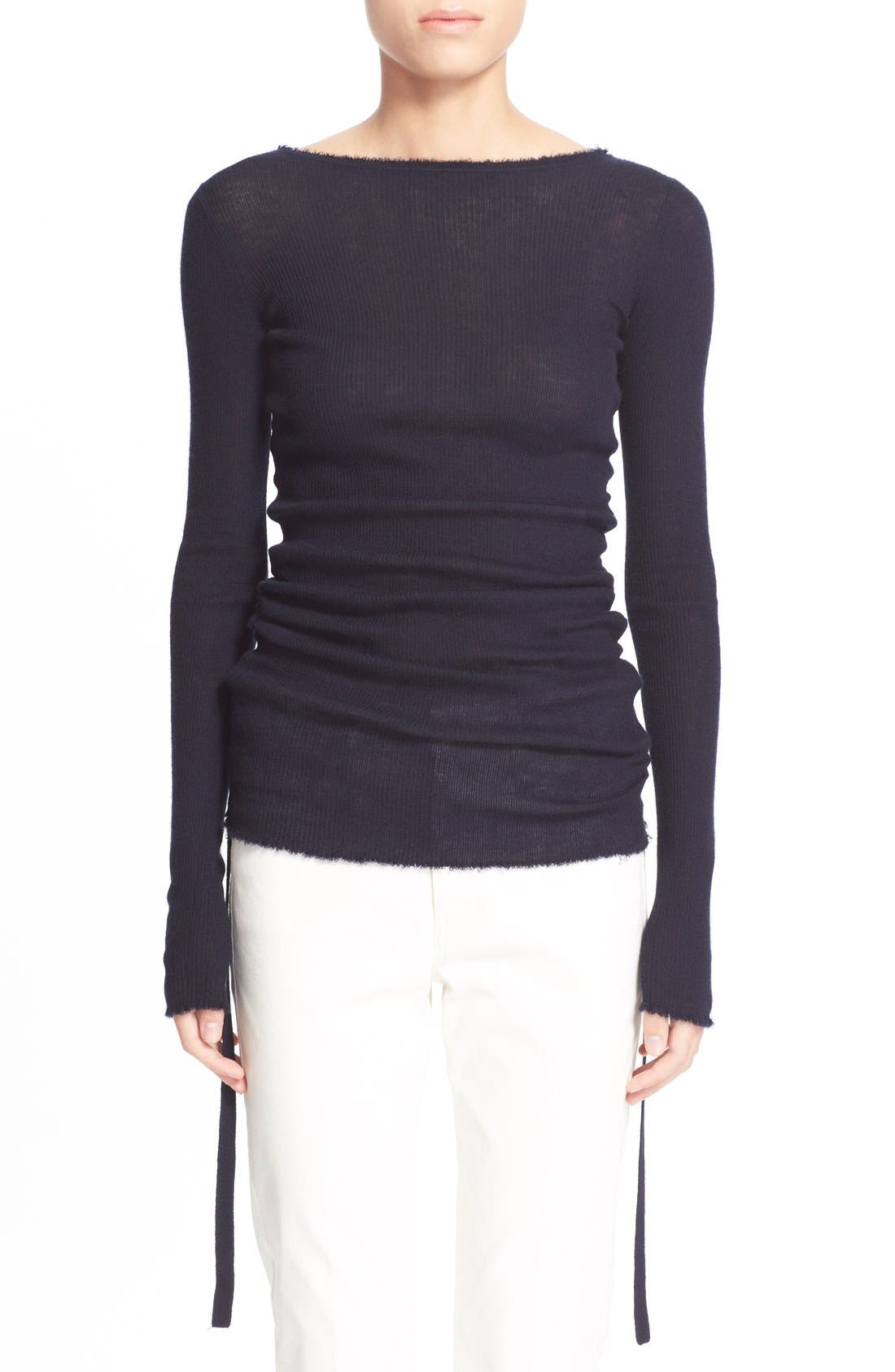 Main Image - Helmut Lang RuchedCashmere Sweater