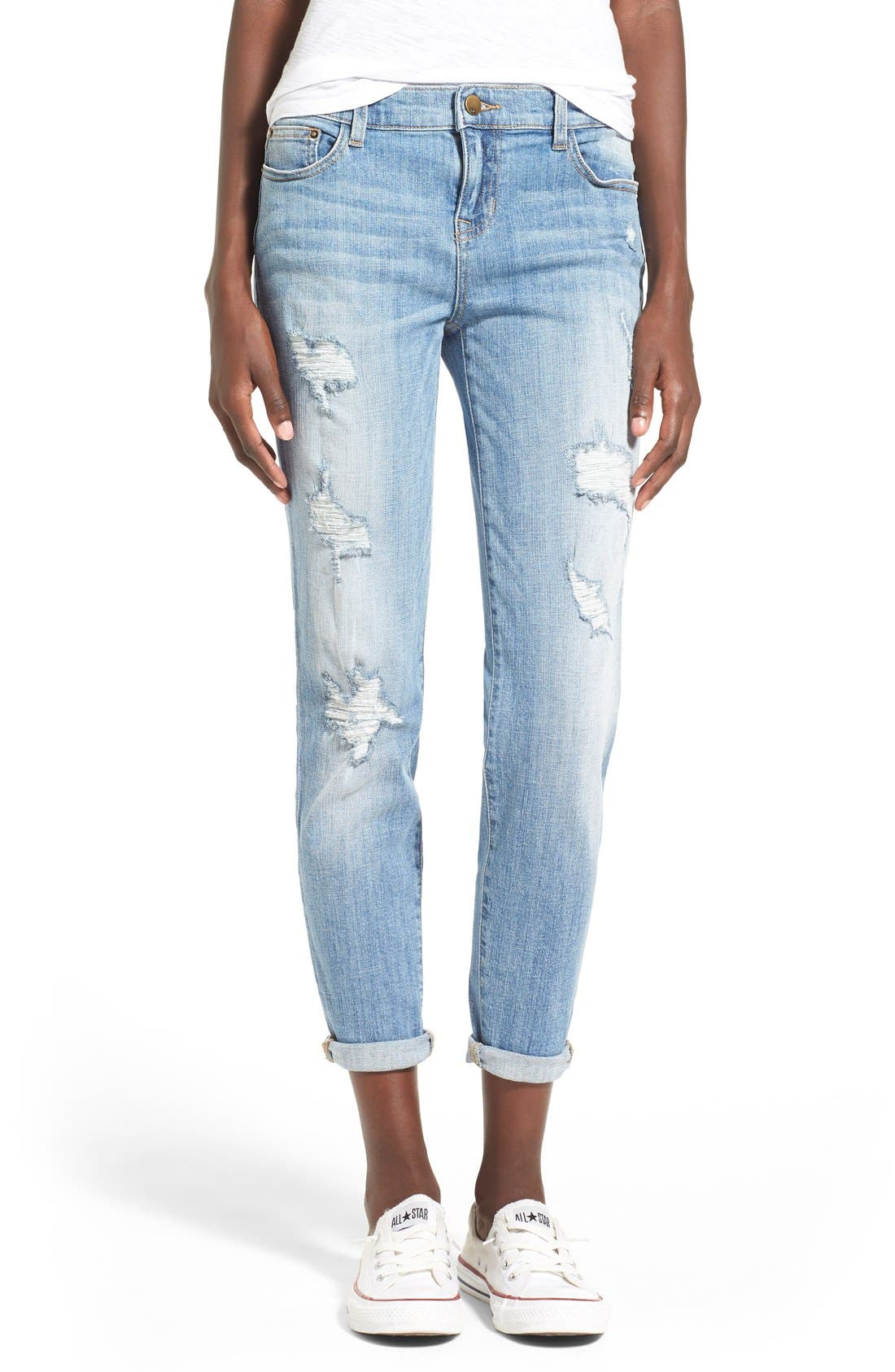 Alternate Image 1 Selected - SPBlackDestroyed BoyfriendJeans(LTWash)
