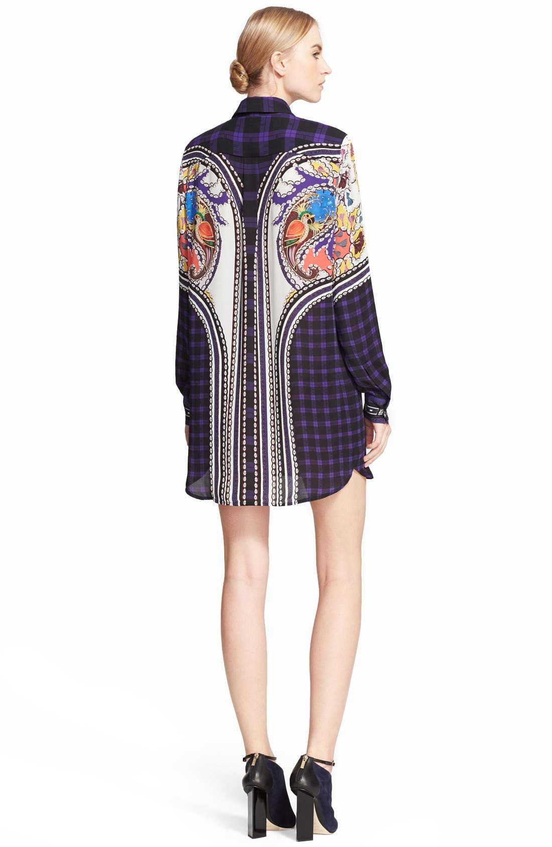 Alternate Image 2  - Mary Katrantzou 'Croft' Silk Georgette Shirtdress