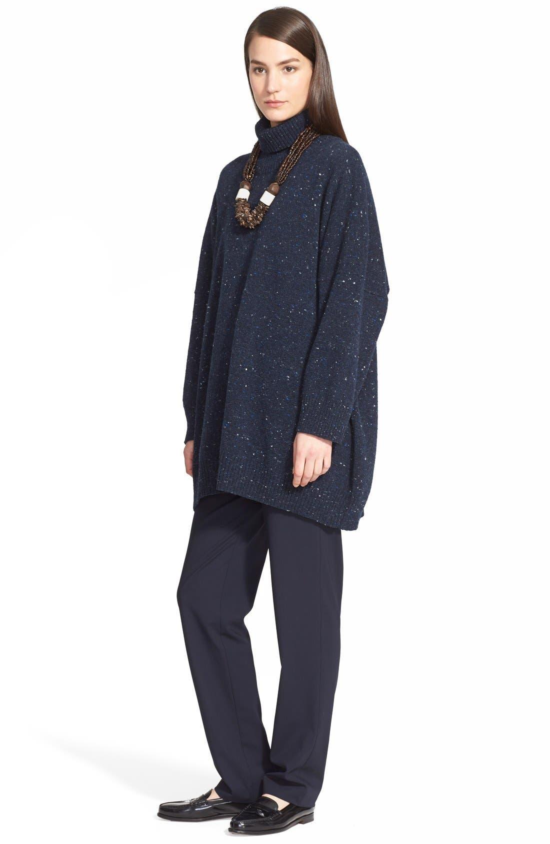 Alternate Image 4  - eskandar Lightweight Tweed Turtleneck Sweater