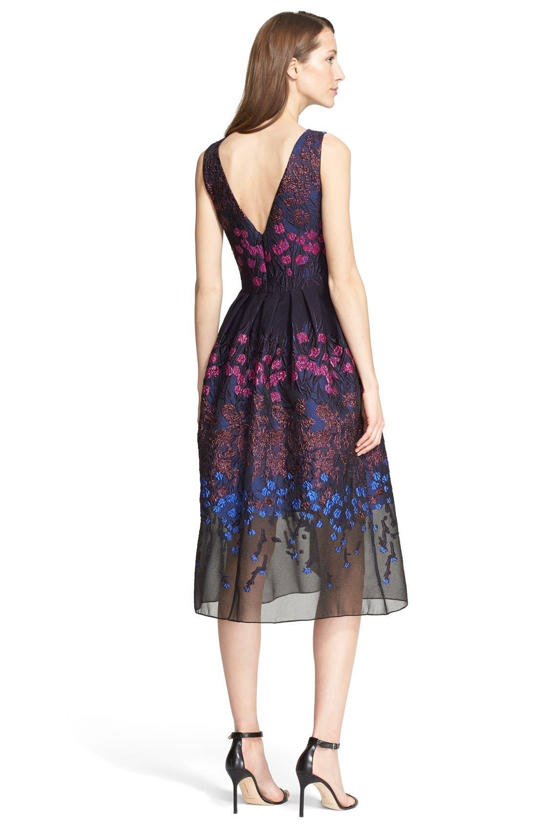 Alternate Image 2  - Lela Rose Floral Fil Coupé Fit & Flare Dress