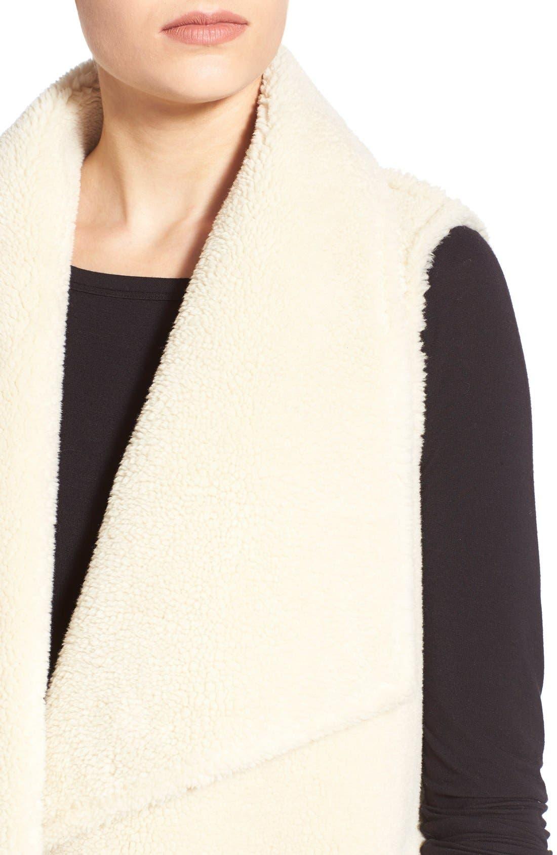 Alternate Image 5  - Velvet by Graham & Spencer Reversible Faux Shearling Vest