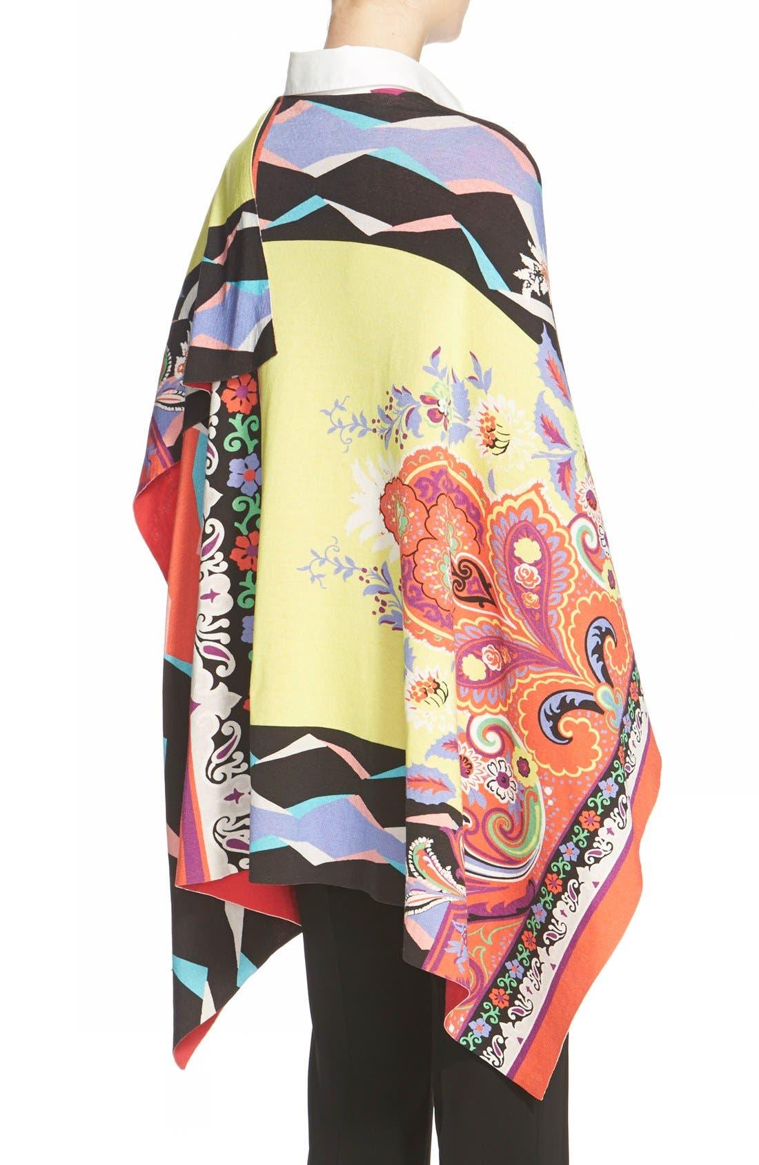 Alternate Image 2  - Etro Geo Print Cotton Poncho