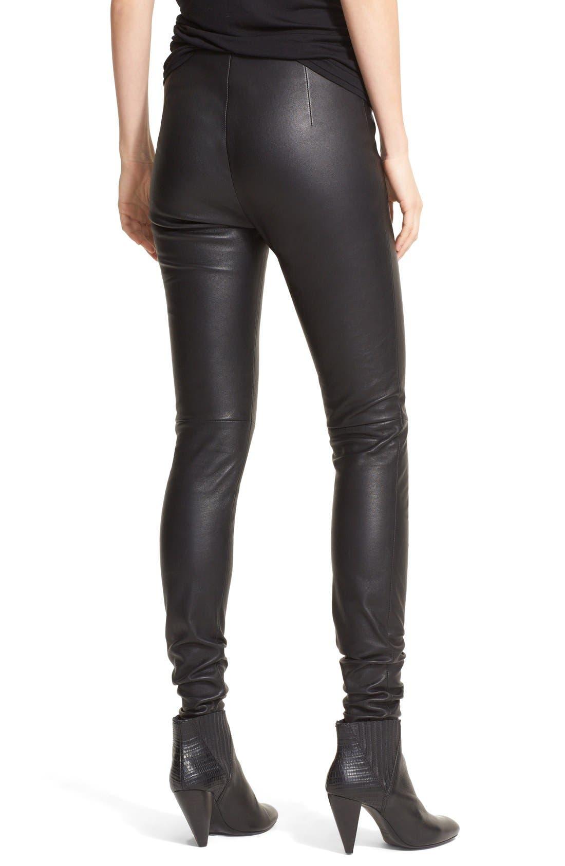 Alternate Image 2  - Lanvin Stretch Lambskin Leather Leggings