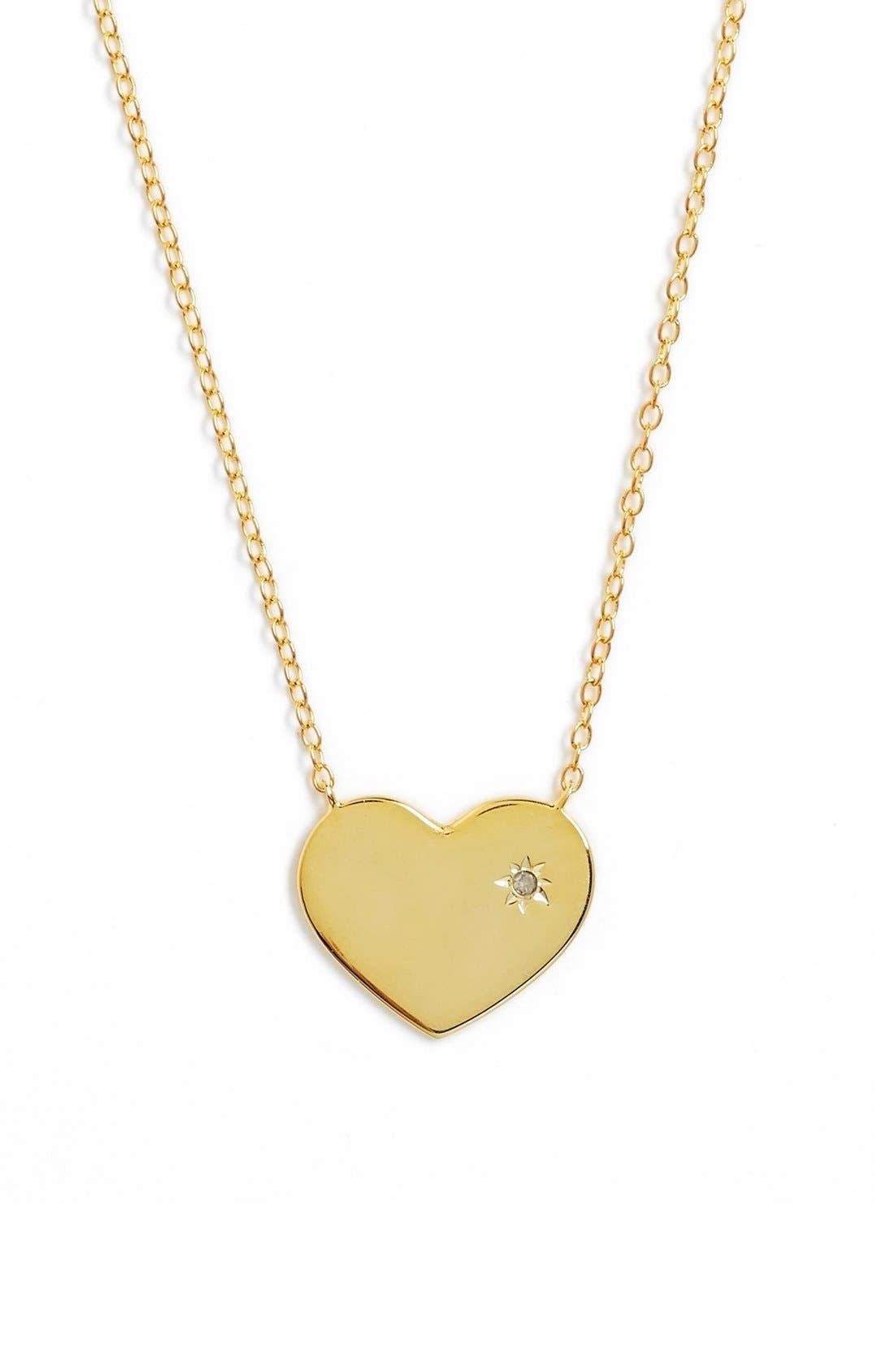 Main Image - Argento Vivo Diamond Accent Heart Necklace
