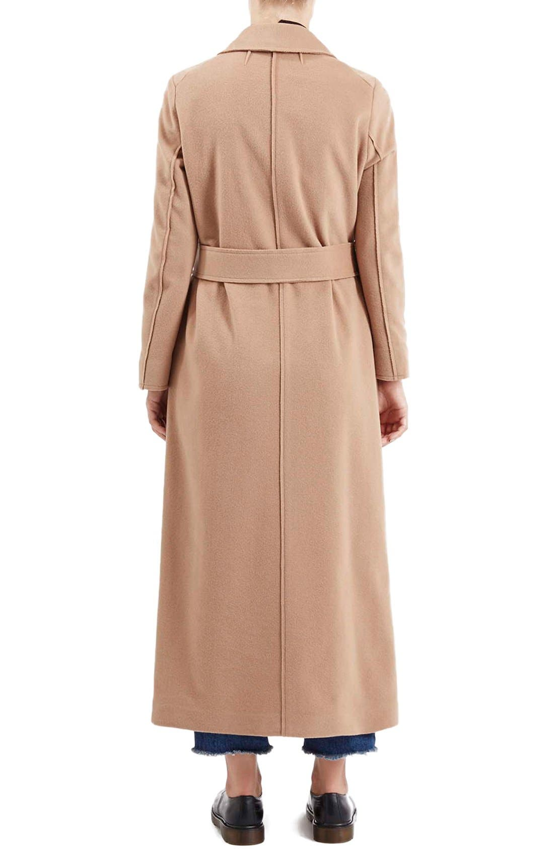 Alternate Image 2  - Topshop Boutique Wrap Coat