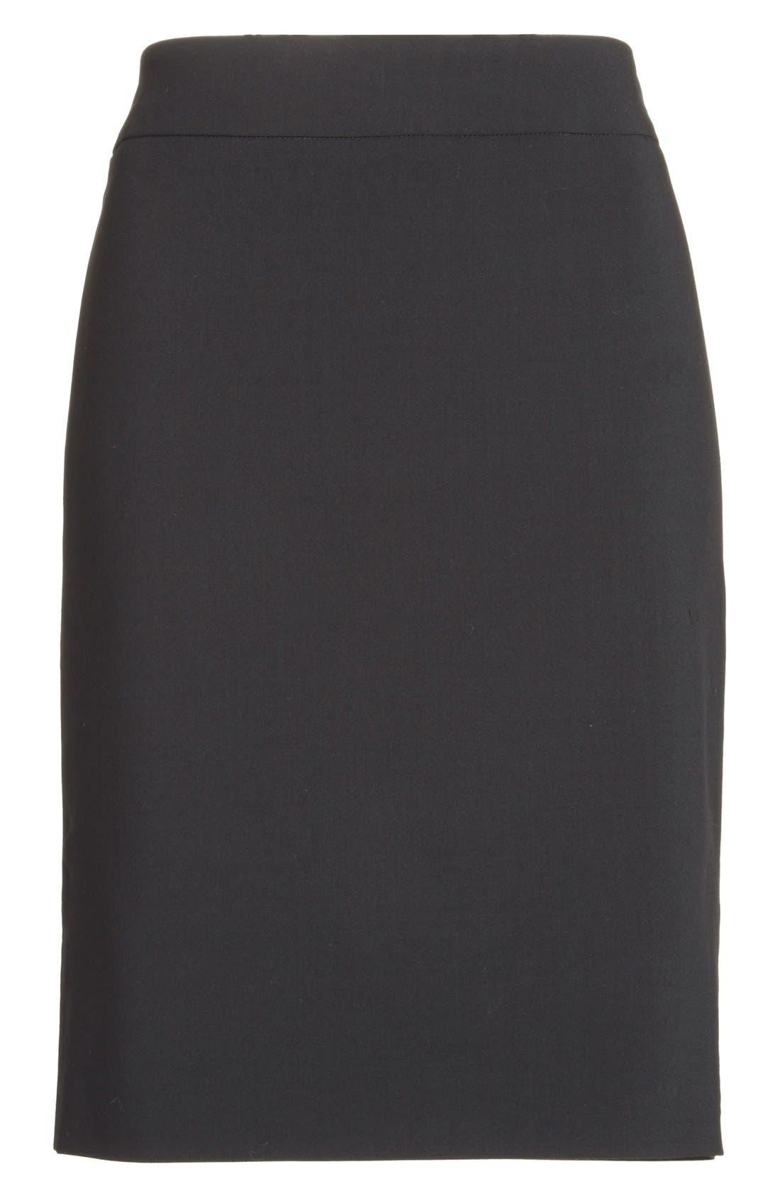 Alternate Image 4  - Armani Collezioni Featherweight Wool Pencil Skirt