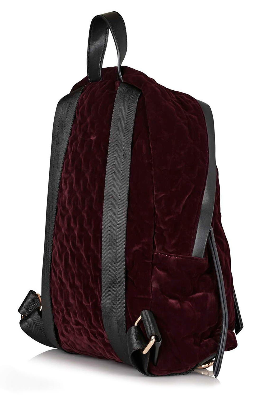Alternate Image 3  - Topshop 'Bristol' Velvet Backpack