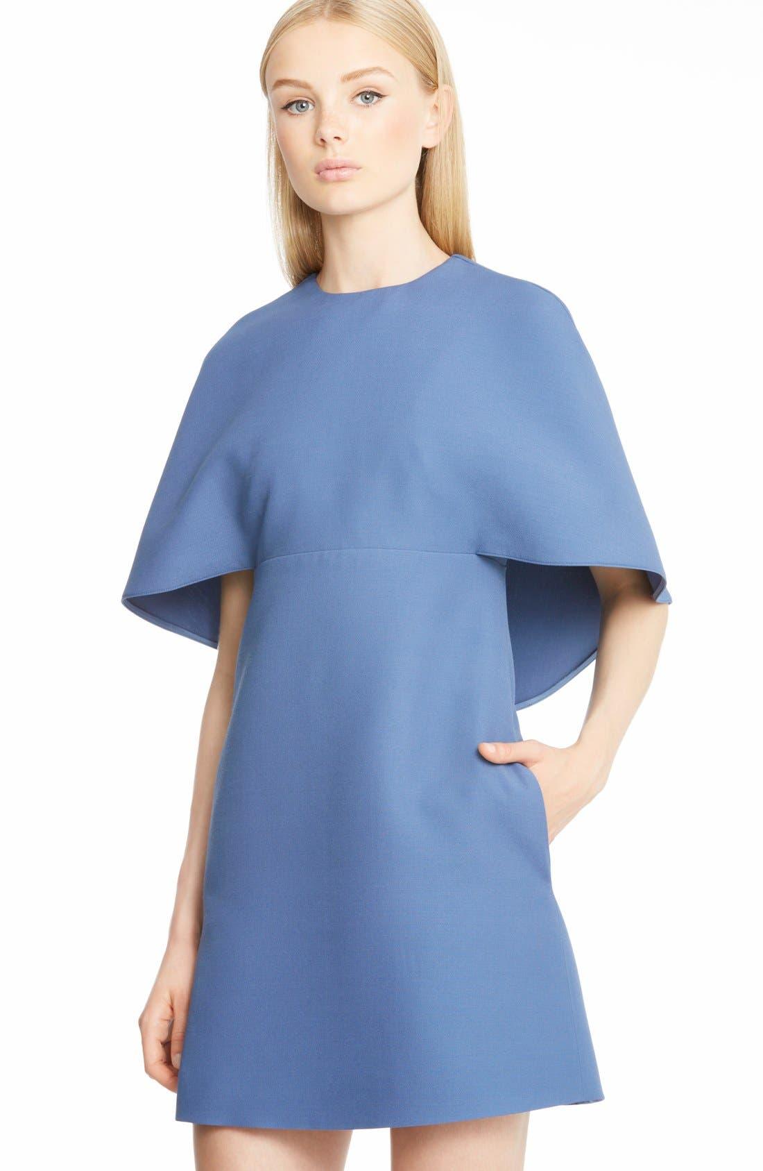 Alternate Image 5  - Valentino Cape Back Wool & Silk Sheath Dress