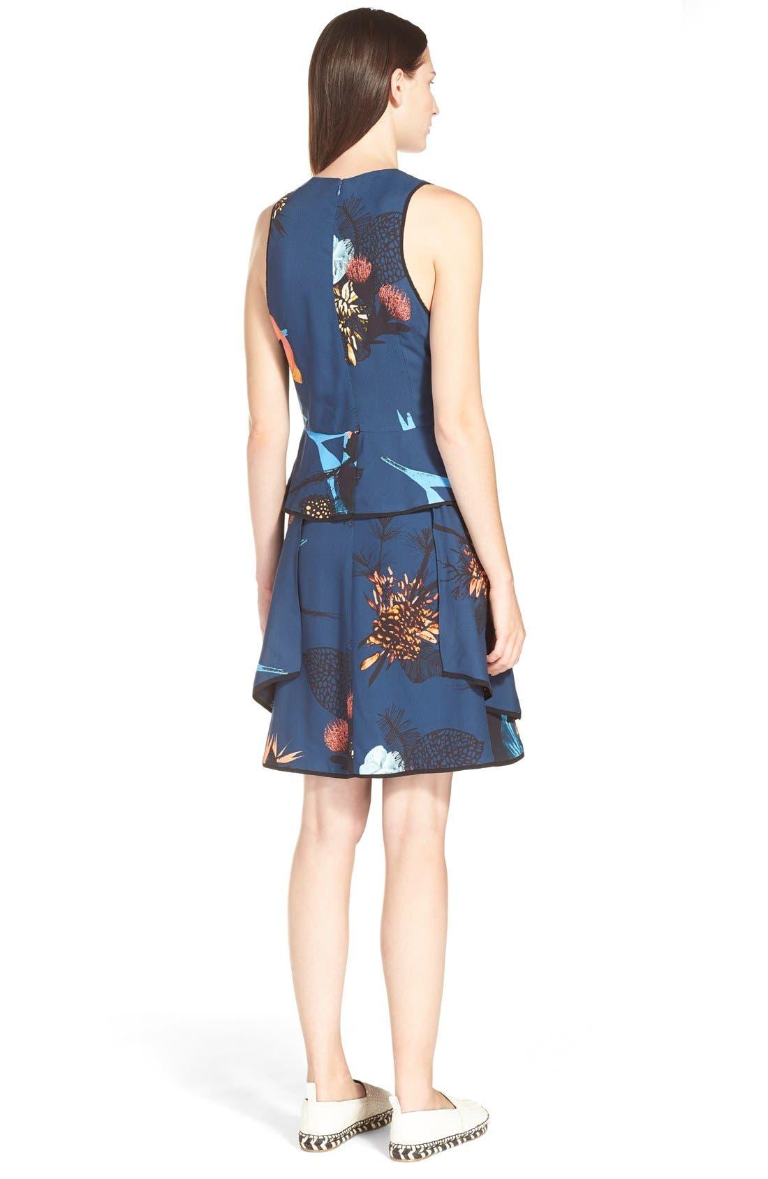Alternate Image 2  - ProenzaSchoulerTropical Print Sleeveless Ruffle Dress
