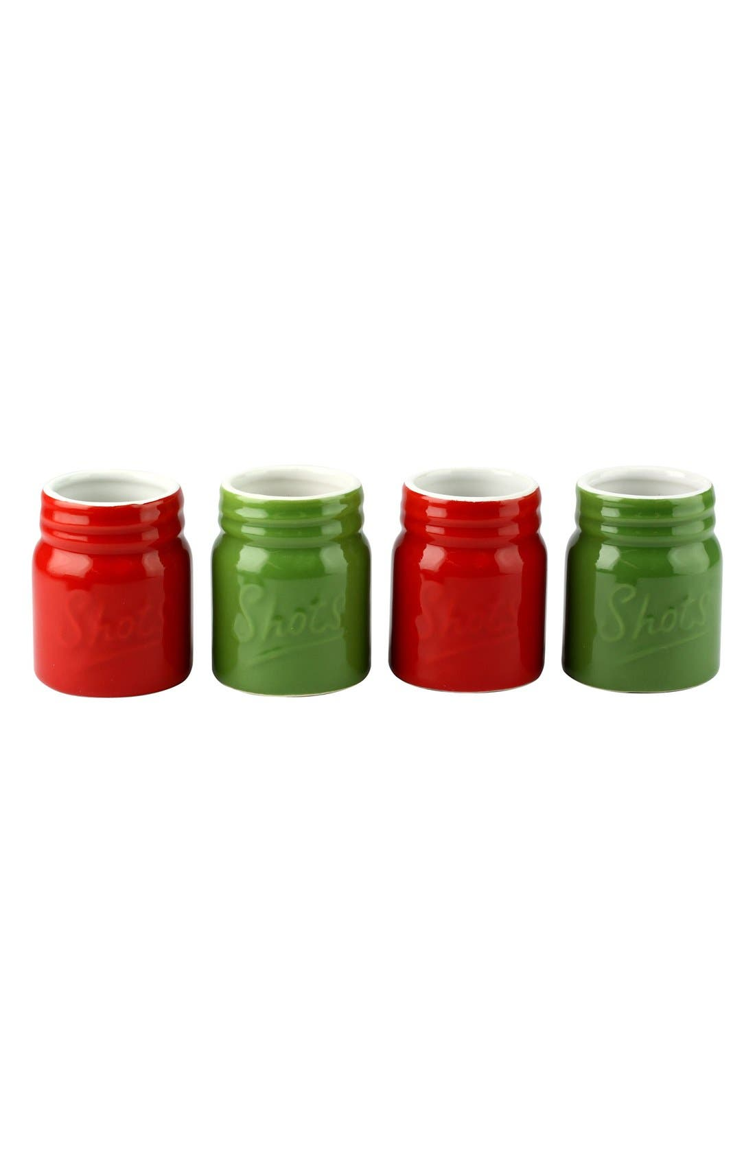Main Image - Barbuzzo Ceramic Mason Jar Shot Cups (Set of 4)