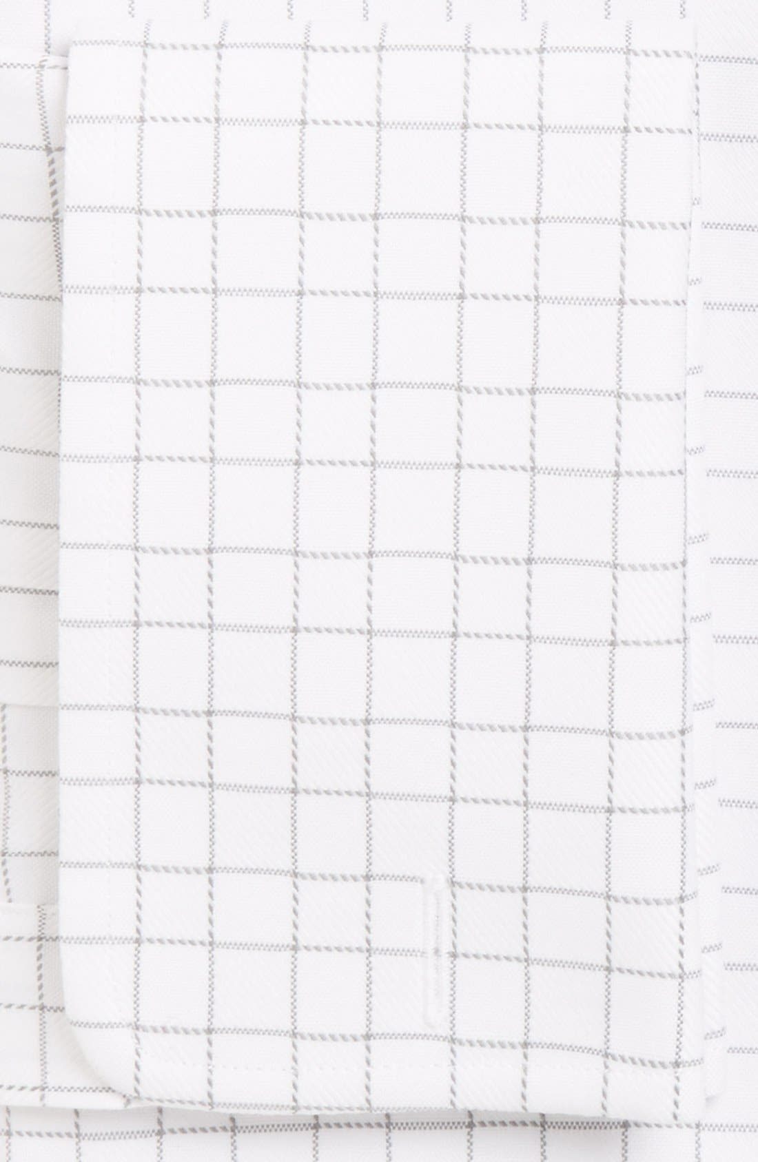 Alternate Image 2  - David Donahue Regular Fit Windowpane PlaidDress Shirt