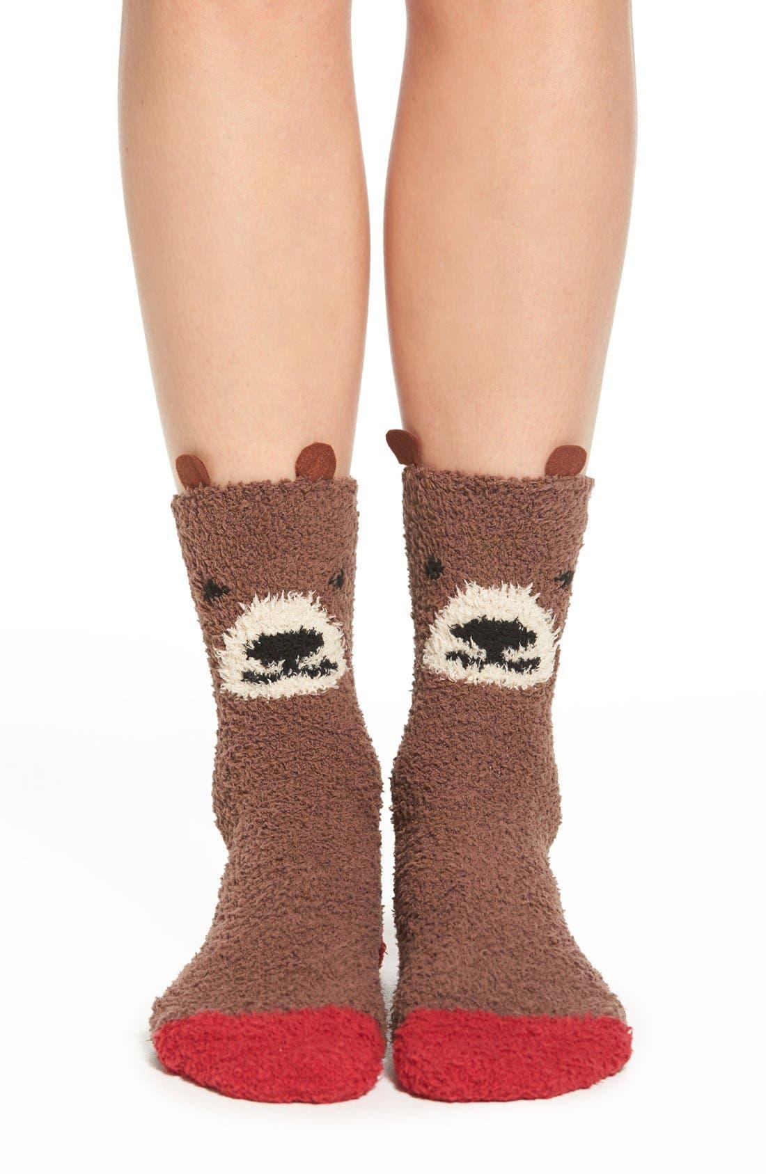 Alternate Image 1 Selected - PJ Salvage 'Cozy Plush Bear' Socks