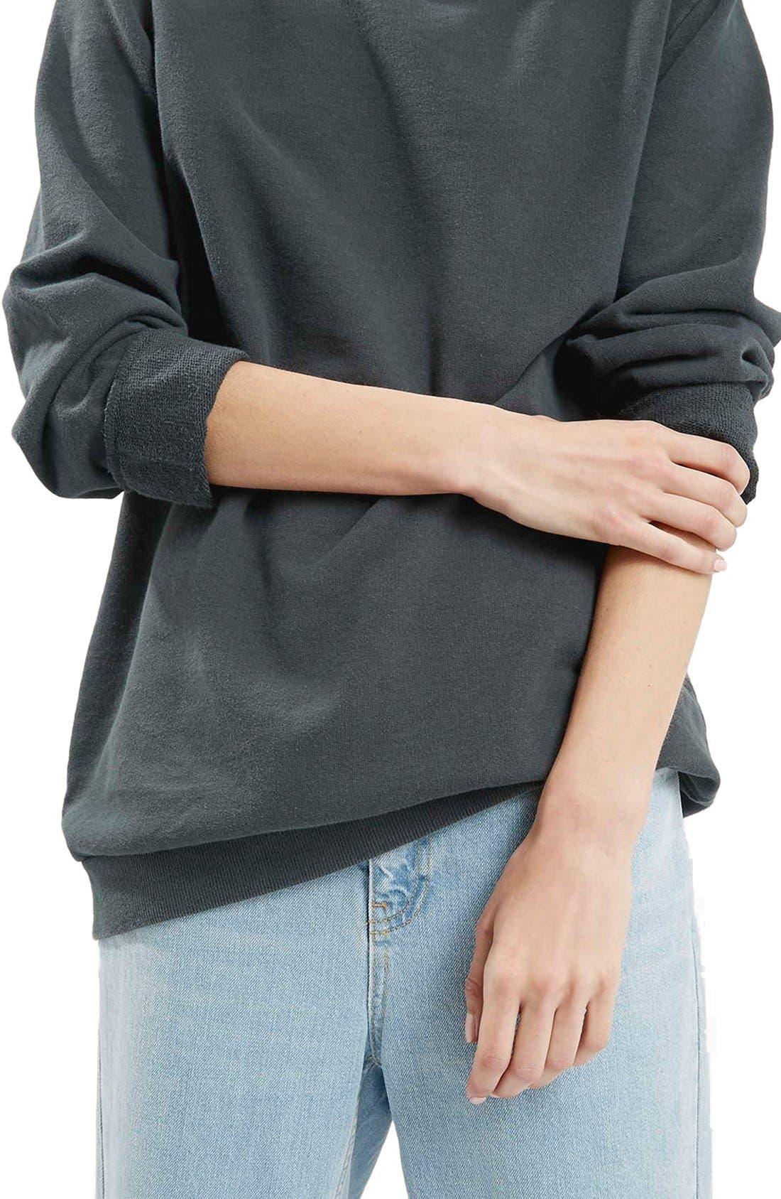 Alternate Image 5  - Topshop Washed '90s Sweatshirt