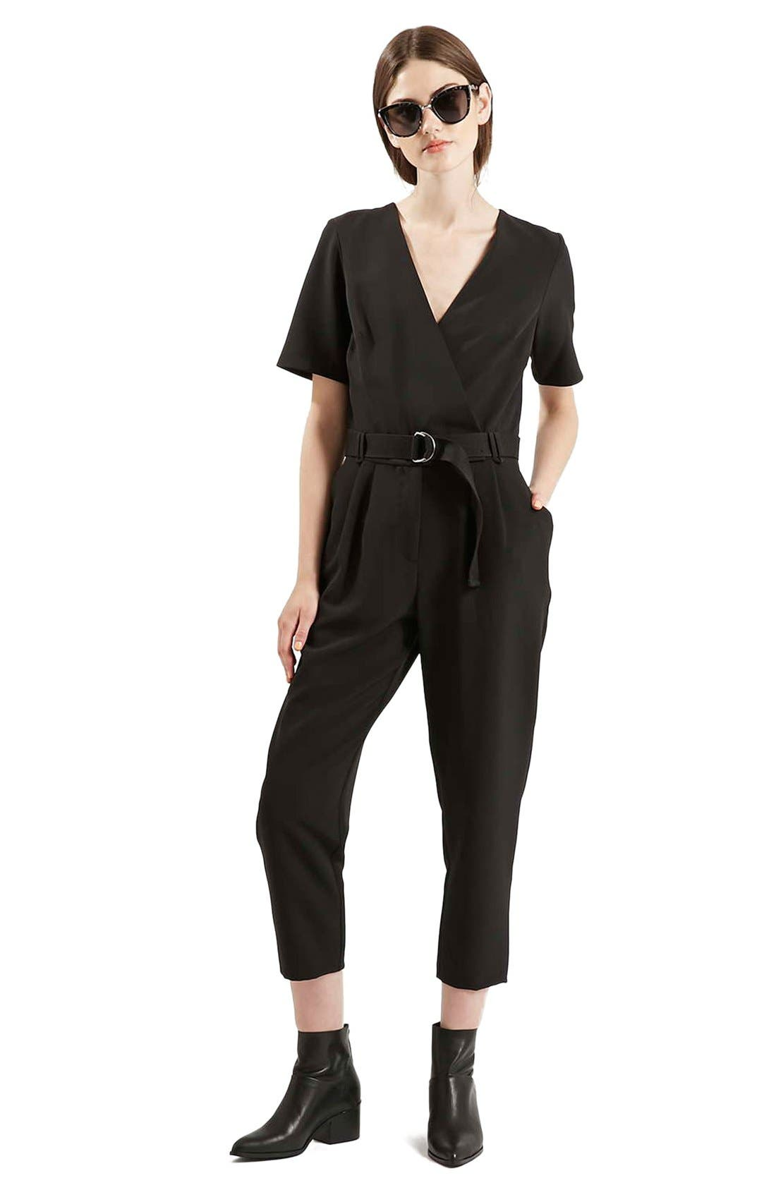 Alternate Image 2  - Topshop Belted Jumpsuit