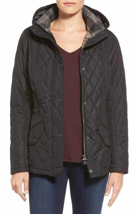 Barbour 'Millfire' Hooded Quilted Jacket - Quilted Jackets For Women Nordstrom