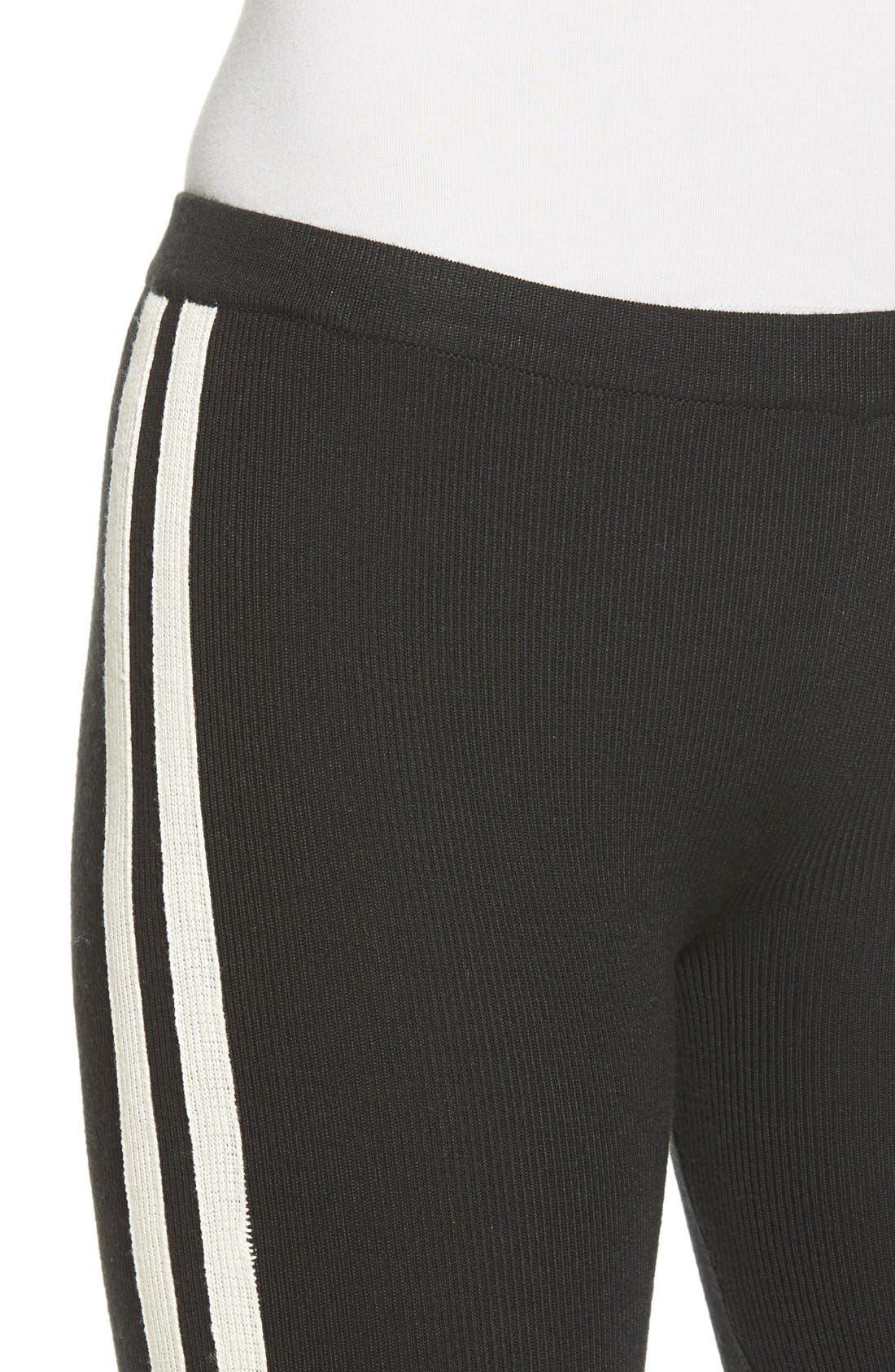 Alternate Image 4  - Hue Racer Stripe Sweater Leggings