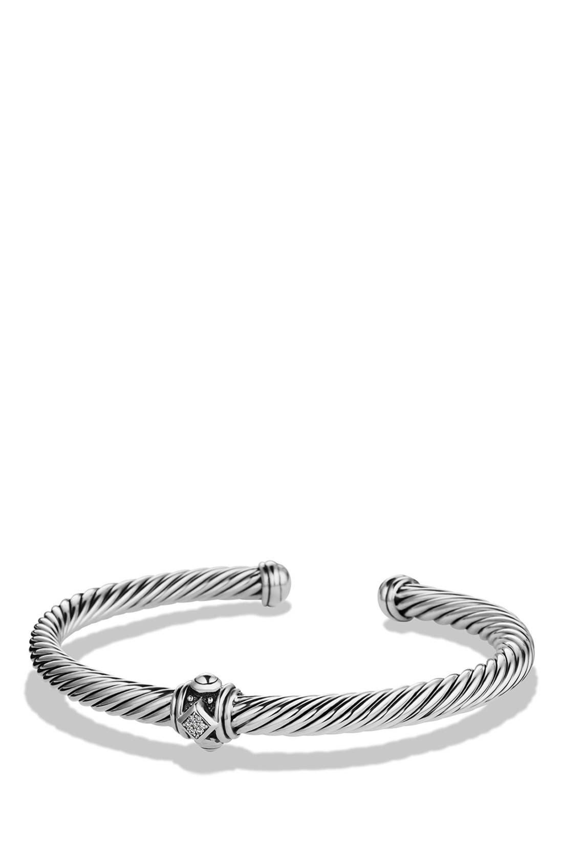 Alternate Image 1 Selected - David Yurman 'Renaissance' Bracelet with Diamonds