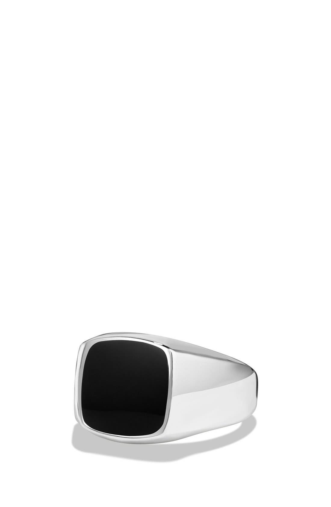 David Yurman 'Exotic Stone' Signet Ring in Silver