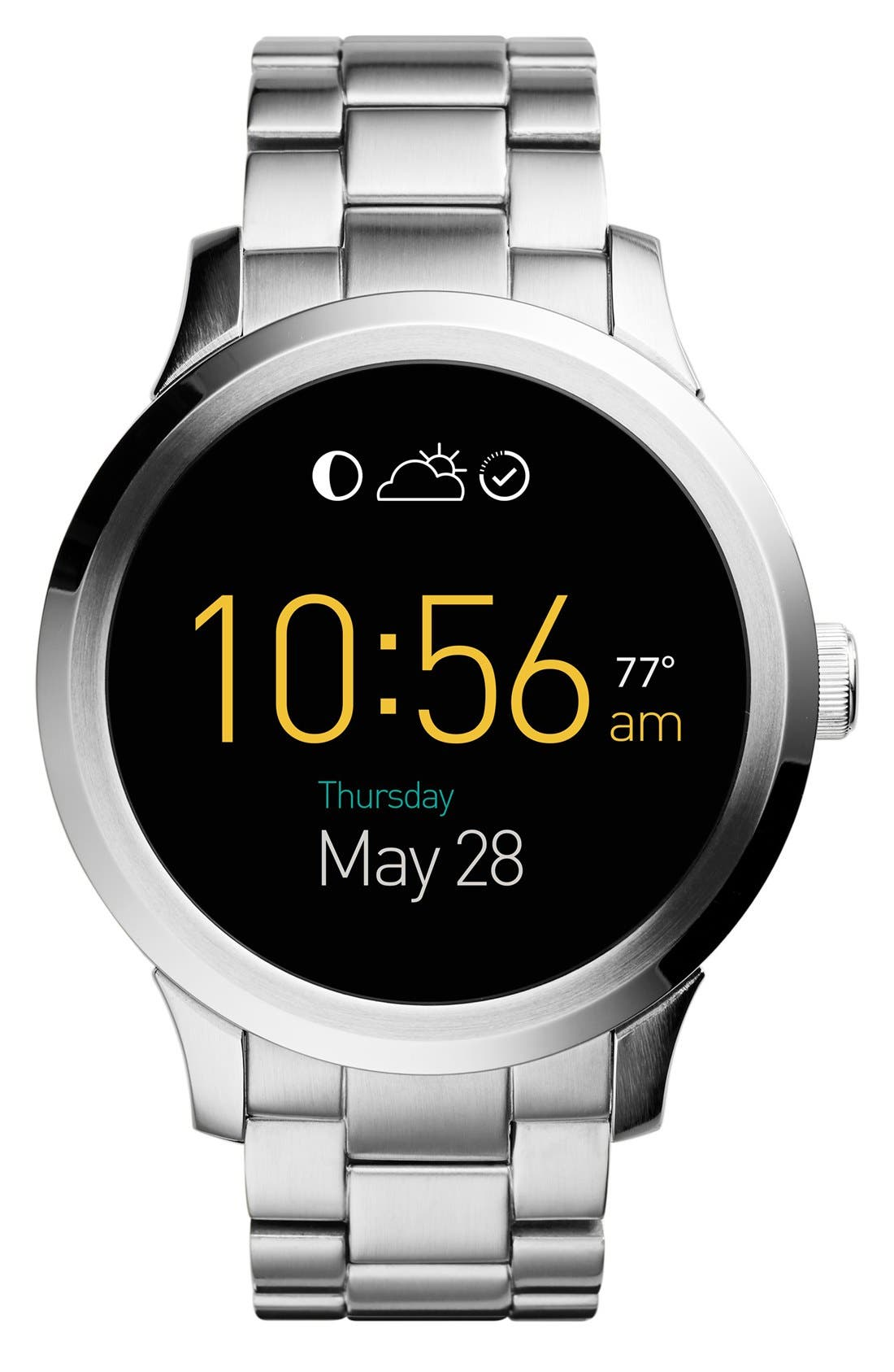 Main Image - Fossil 'Fossil Q - Founder' Round Bracelet Smart Watch, 47mm