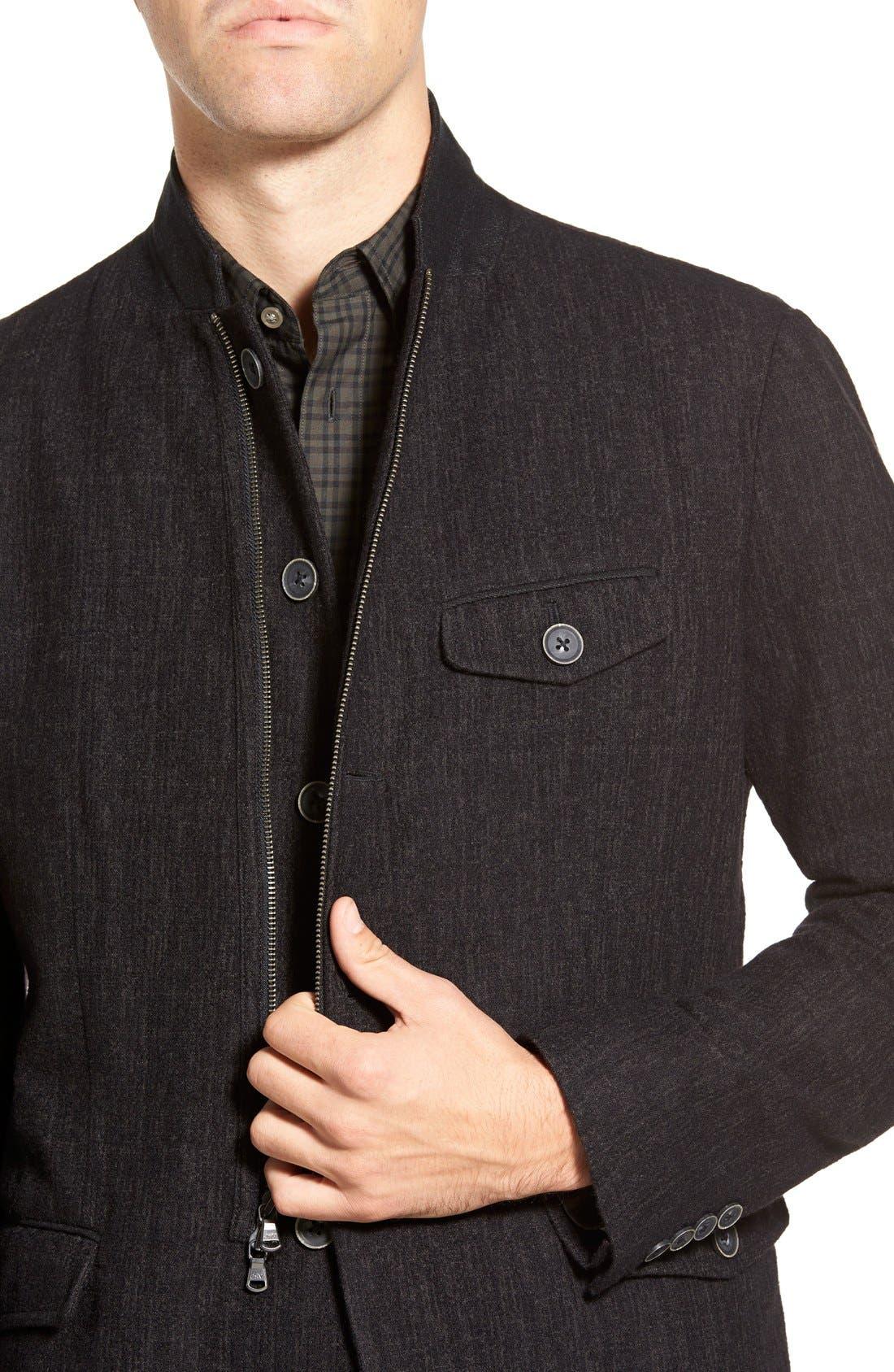 Alternate Image 4  - John Varvatos Star USA Notch Lapel Moto Jacket