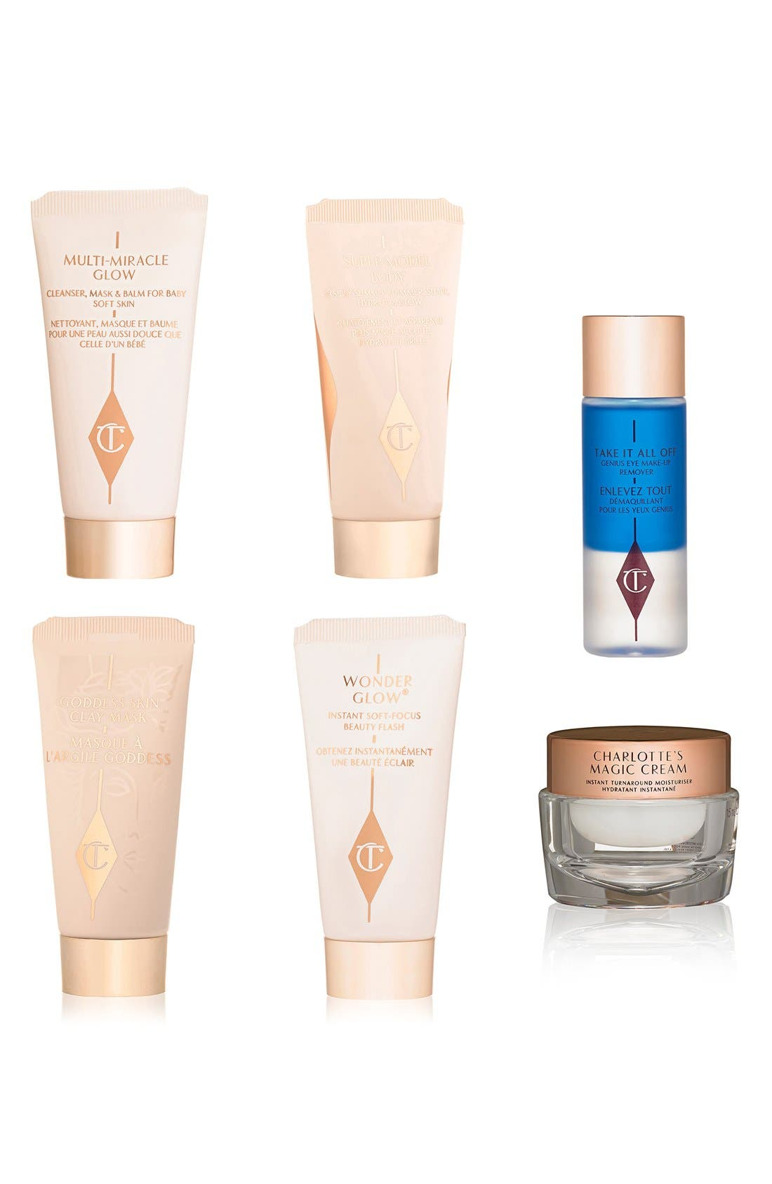 Charlotte Tilbury 'The Gift of Red Carpet Skin' Travel Set (Limited Edition) ($95 Value)