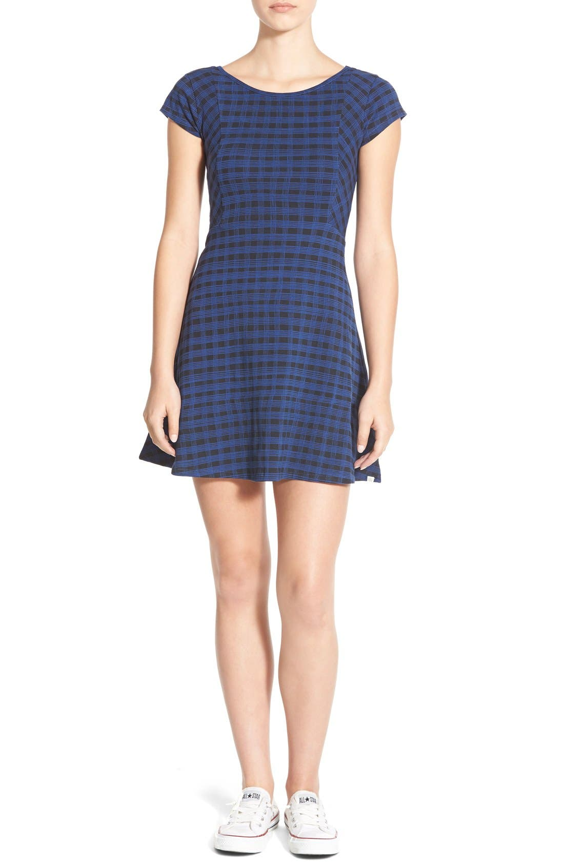Main Image - Element 'Isabel' Stretch Knit Plaid Dress