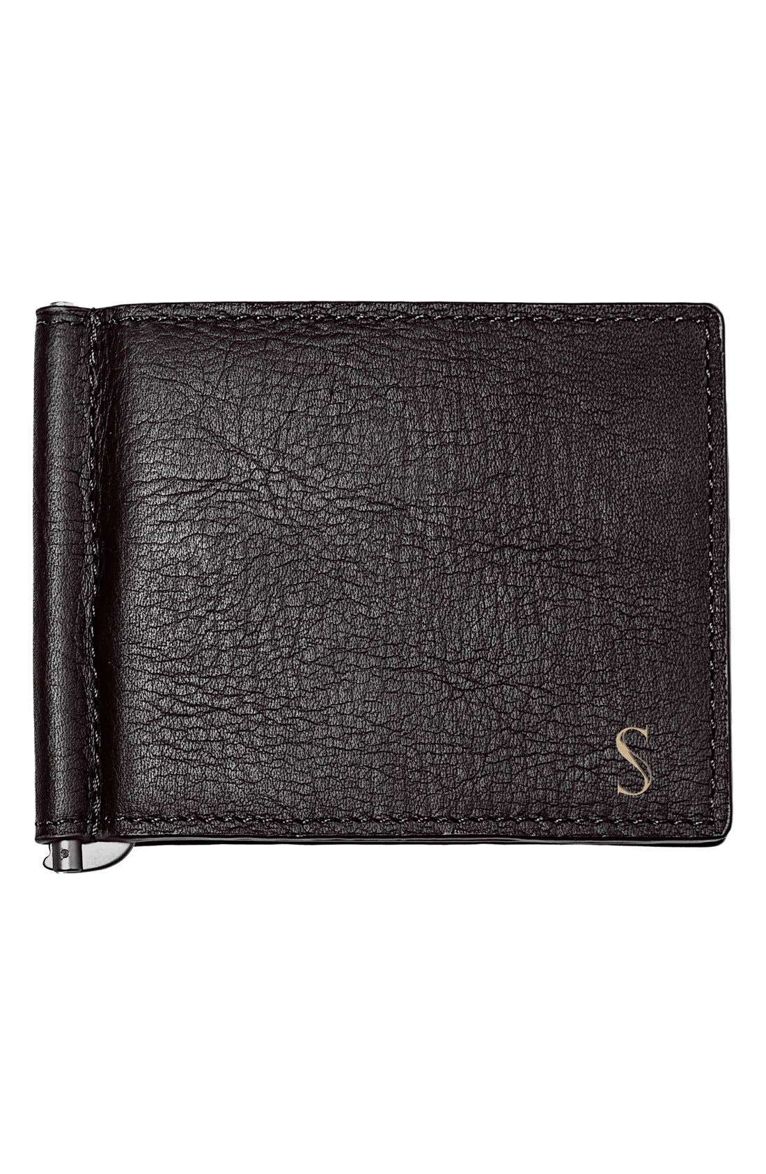 Cathy's Concepts Monogram Leather Wallet & Money Clip